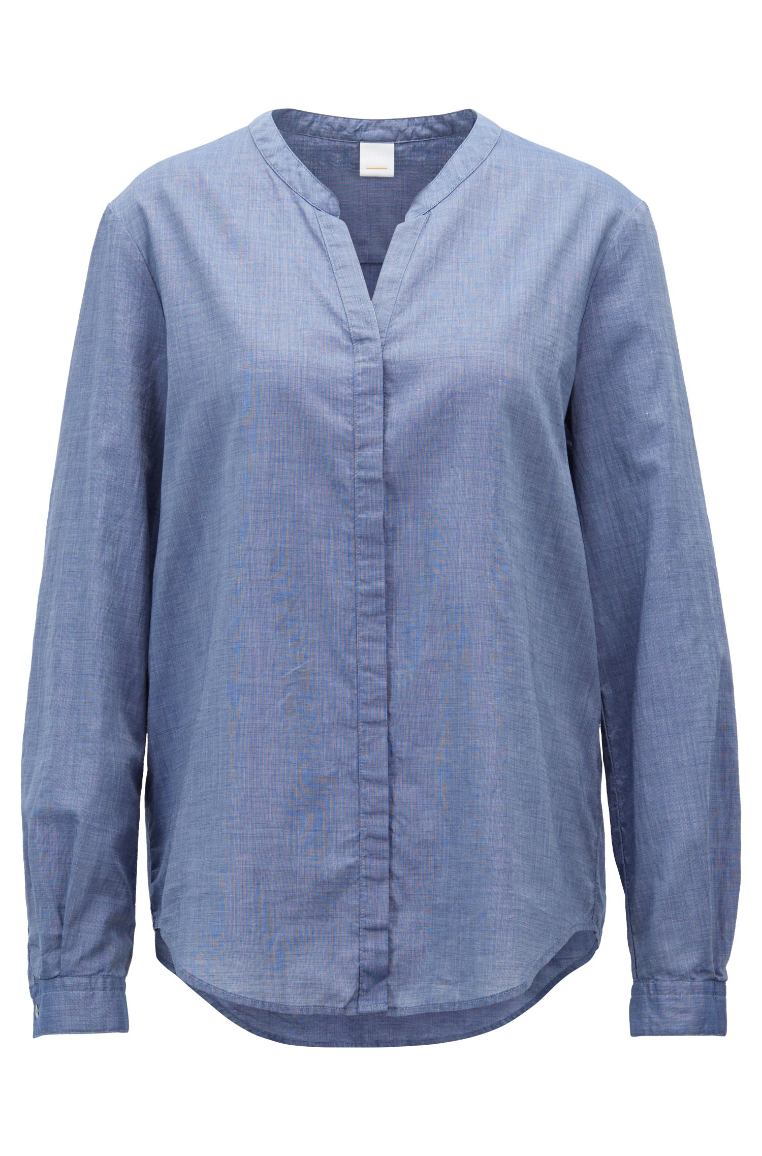 Chemisier Relaxed Fit en chambray de coton mélangé