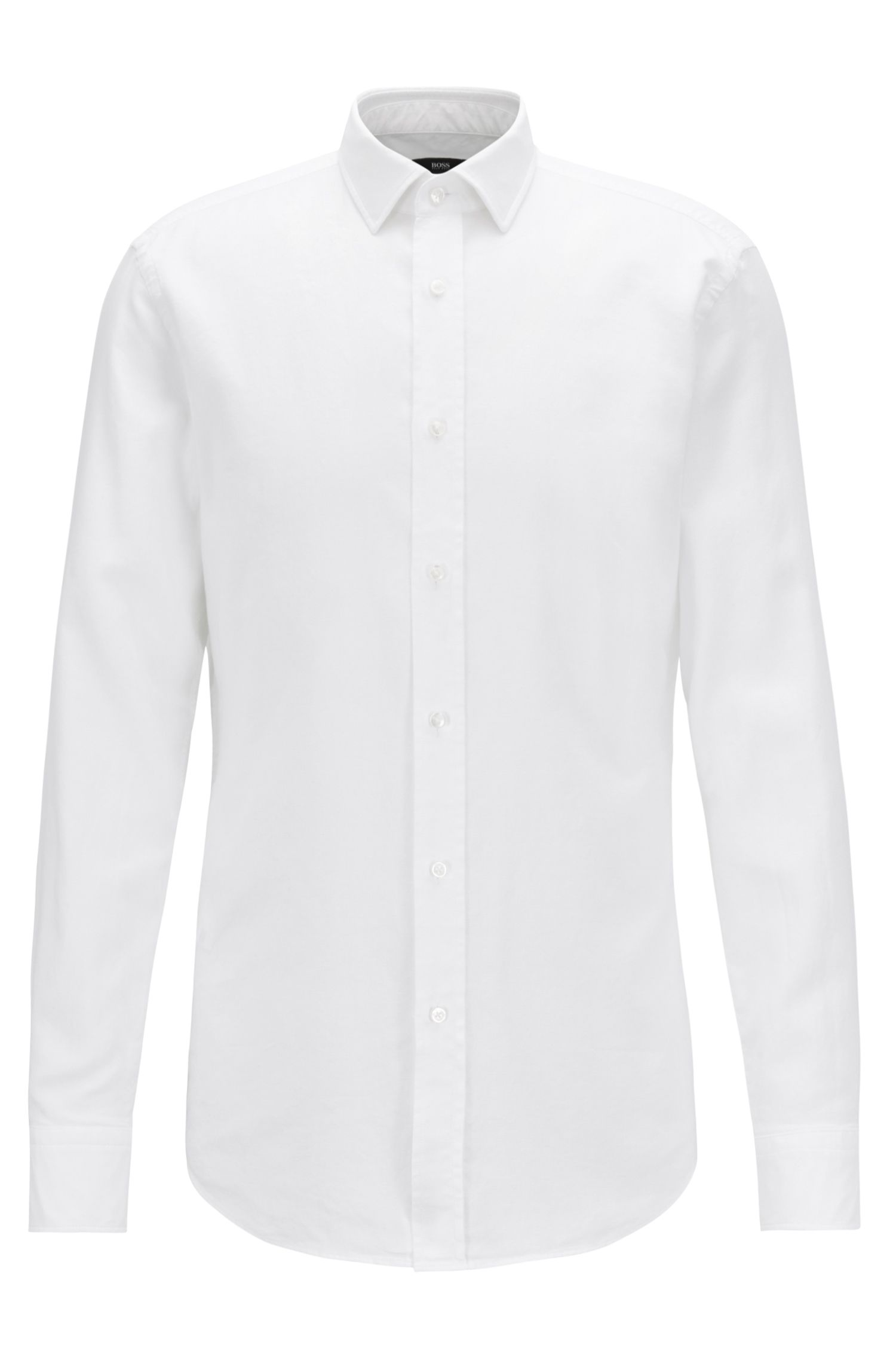 Slim-fit shirt in cotton with micro structure