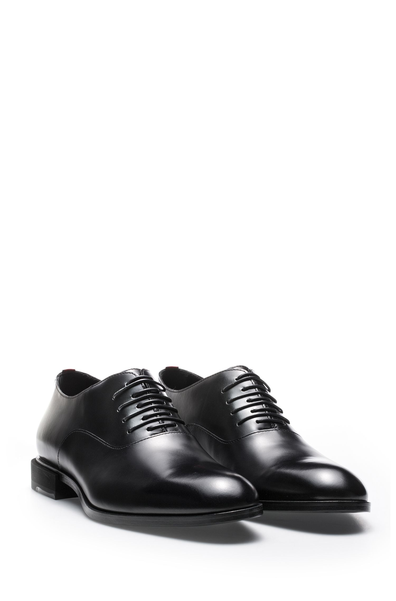 Scarpe Oxford in pelle di vitello con originale allacciatura, Nero
