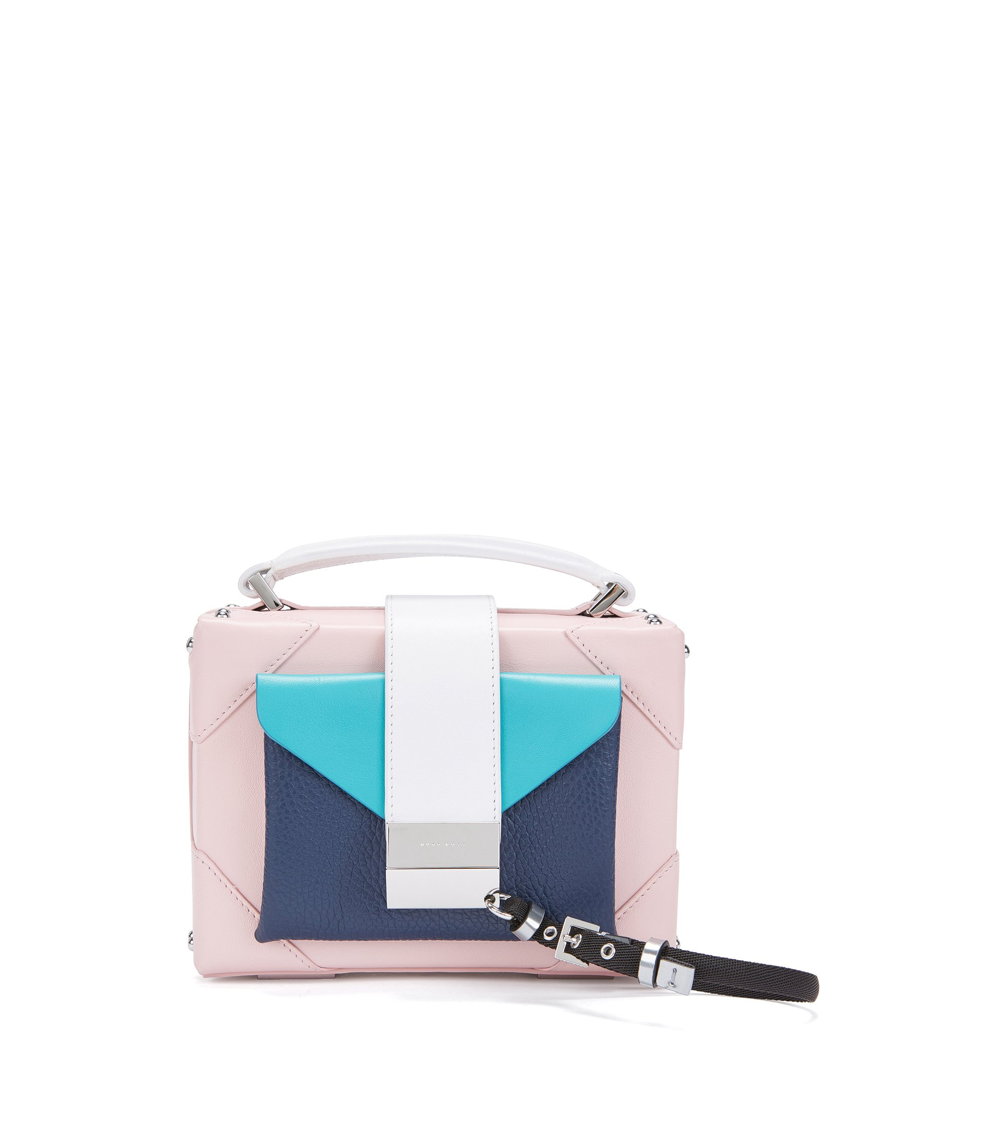 Gallery Collection shoulder bag in Italian leather, light pink