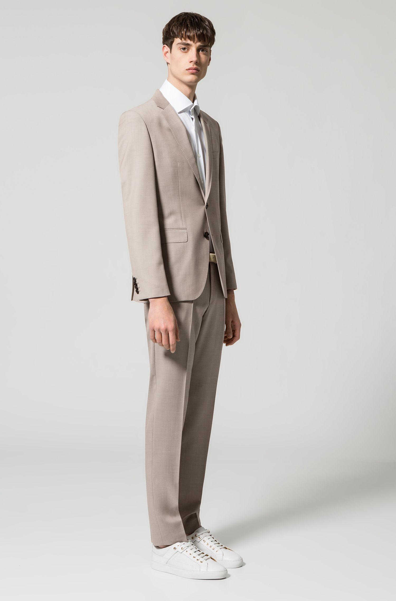 Chemise à manches courtes Regular Fit en coton facile à repasser