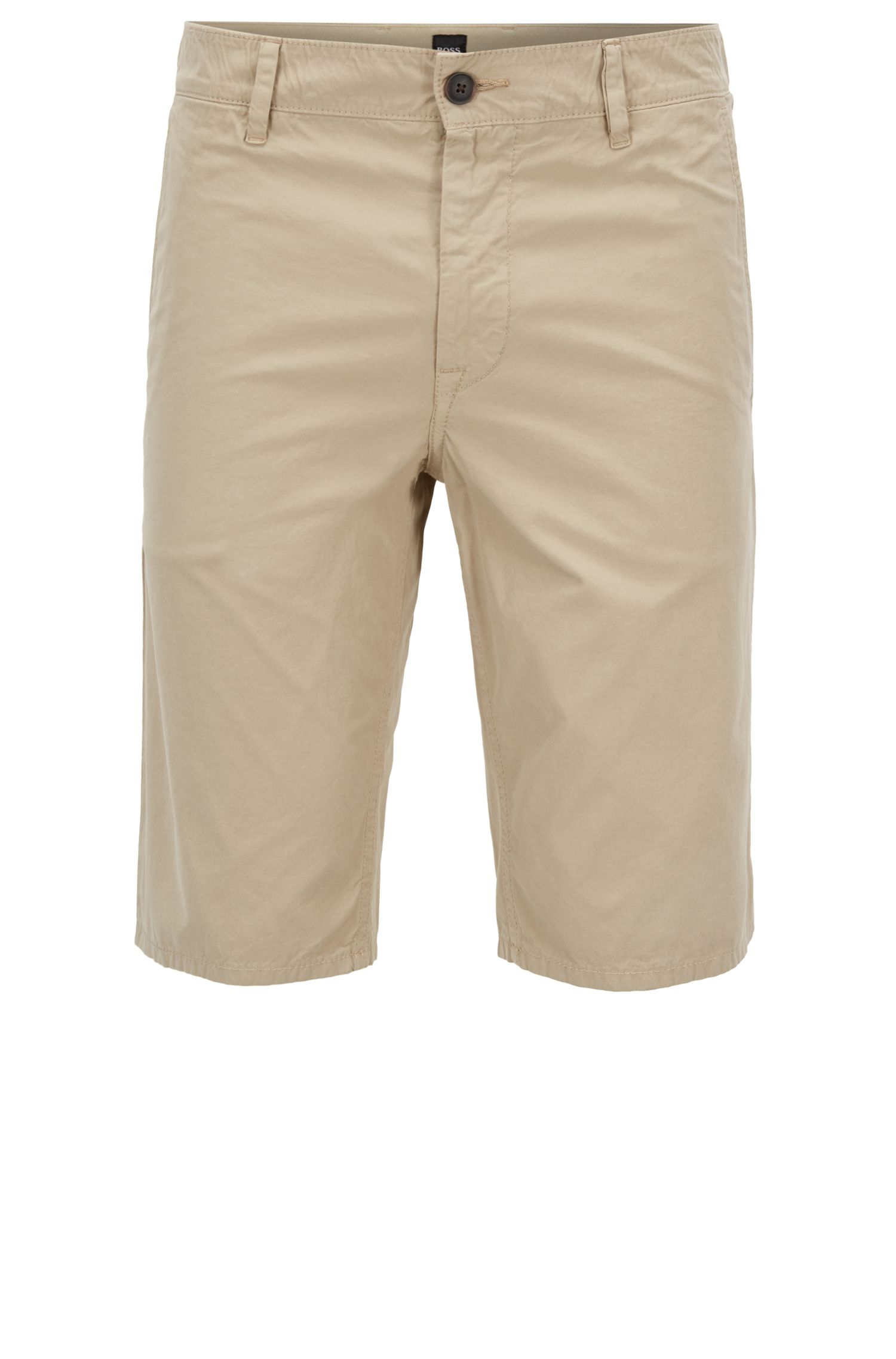 HUGO BOSS Short Slim Fit en popeline de coton surteint