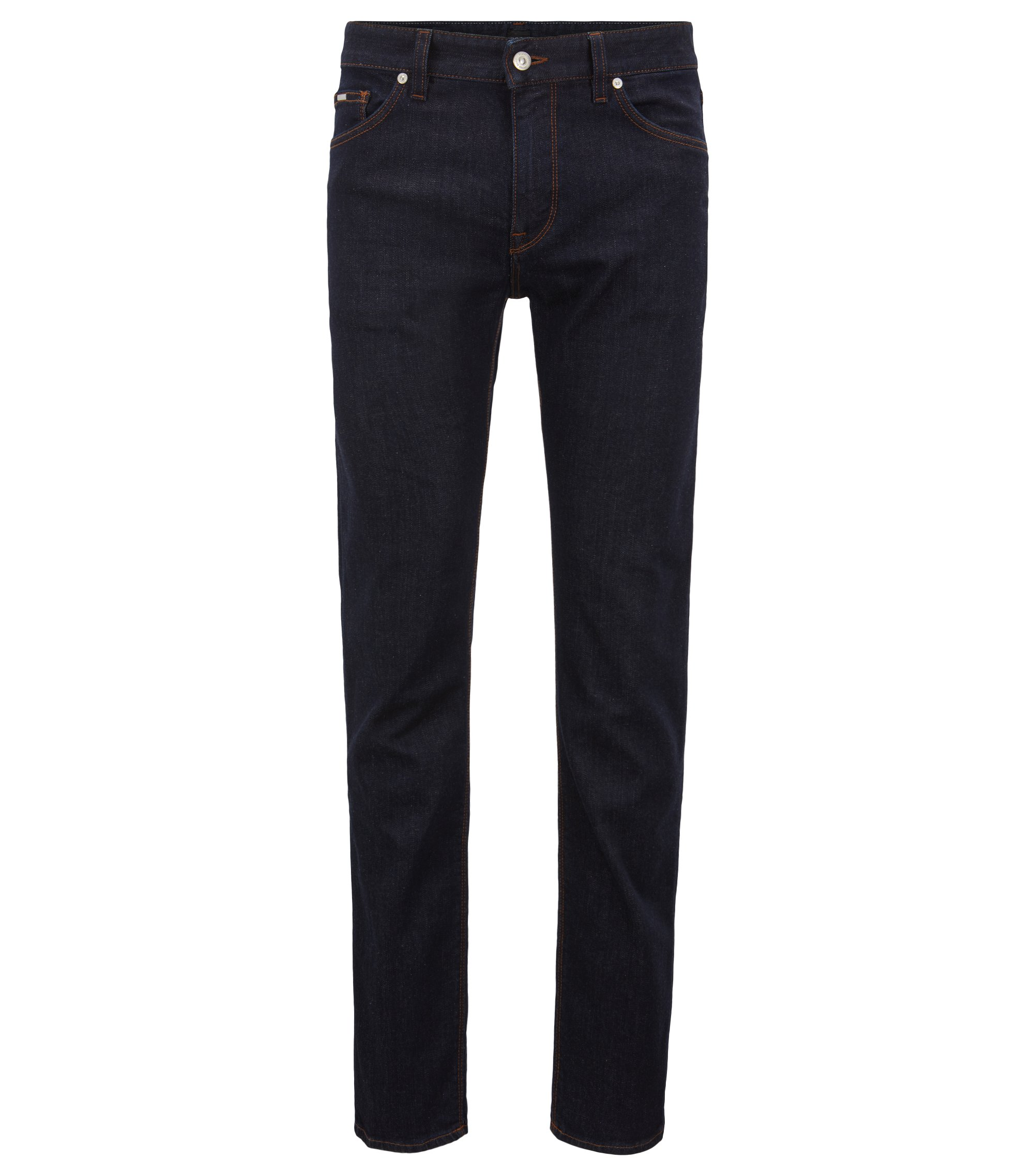 Regular-fit jeans in rinse-washed stretch denim, Dark Blue