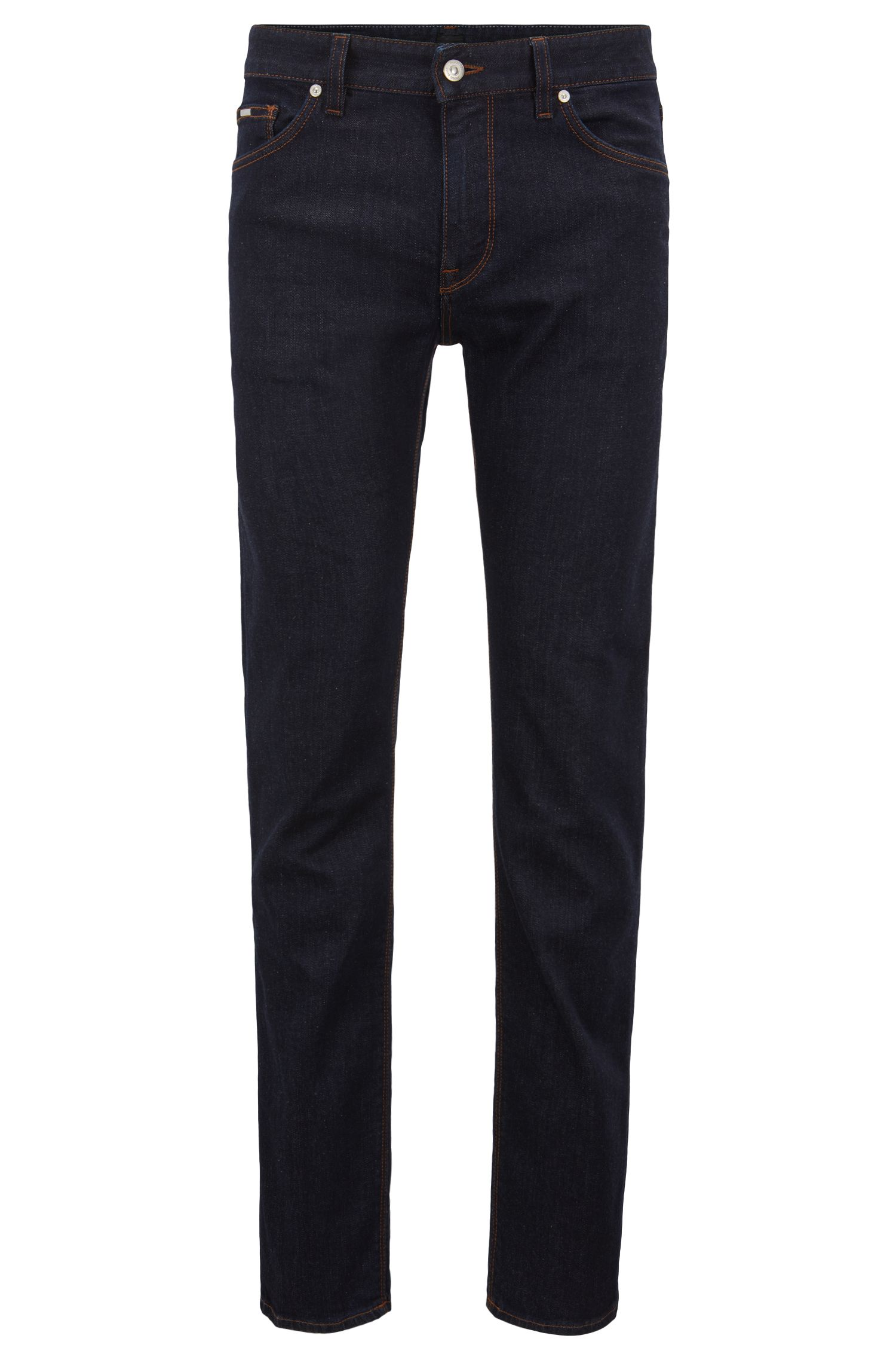 Regular-fit jeans van rinse-washed stretchdenim
