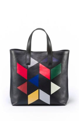 An Eames Celebration printed leather tote, Patterned