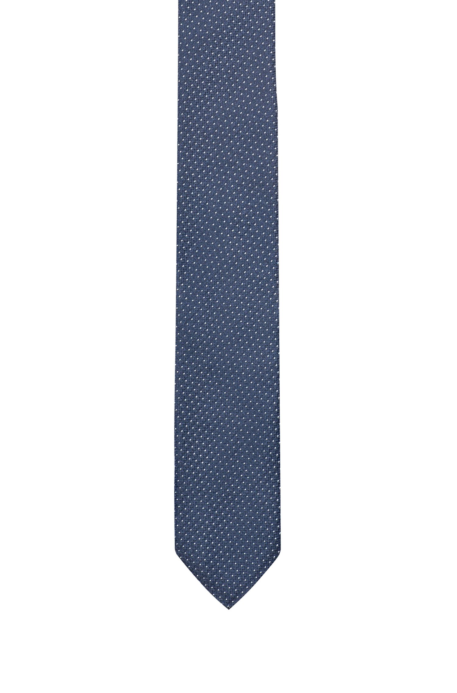 Silk-jacquard tie with micro dots