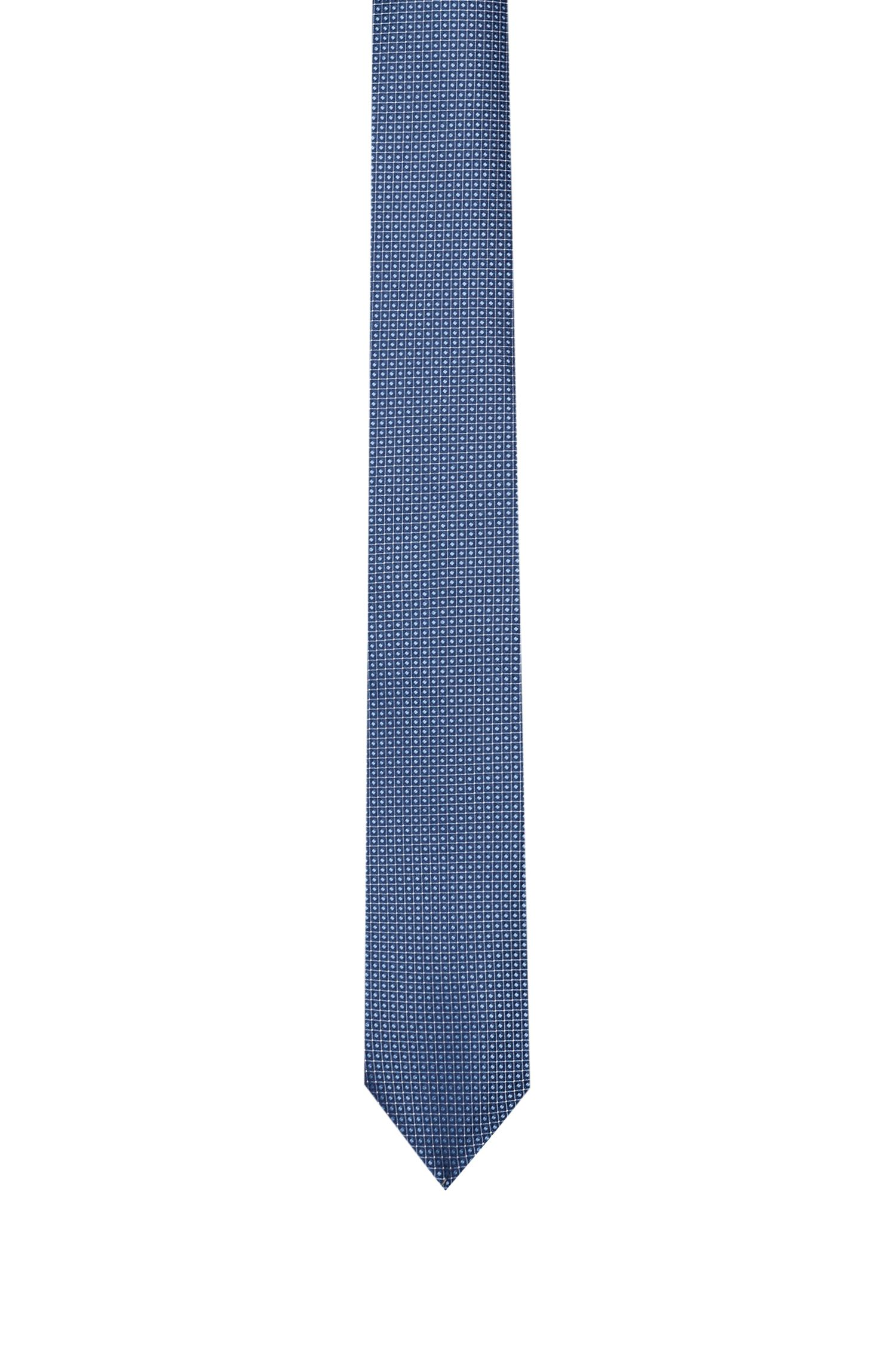 Silk tie with jacquard weave, Light Blue