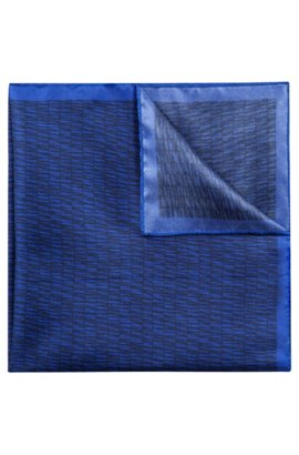 Free Shipping 2018 Unisex Silk pocket square with striped print HUGO BOSS Explore Cheap Online OEqa6