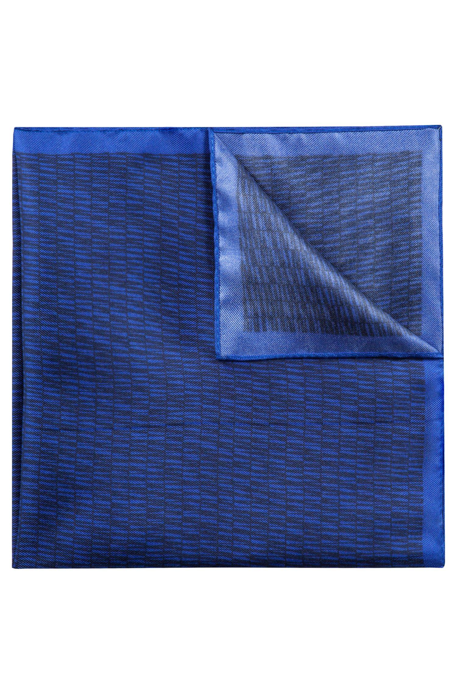 Pochette en soie à imprimé rayé