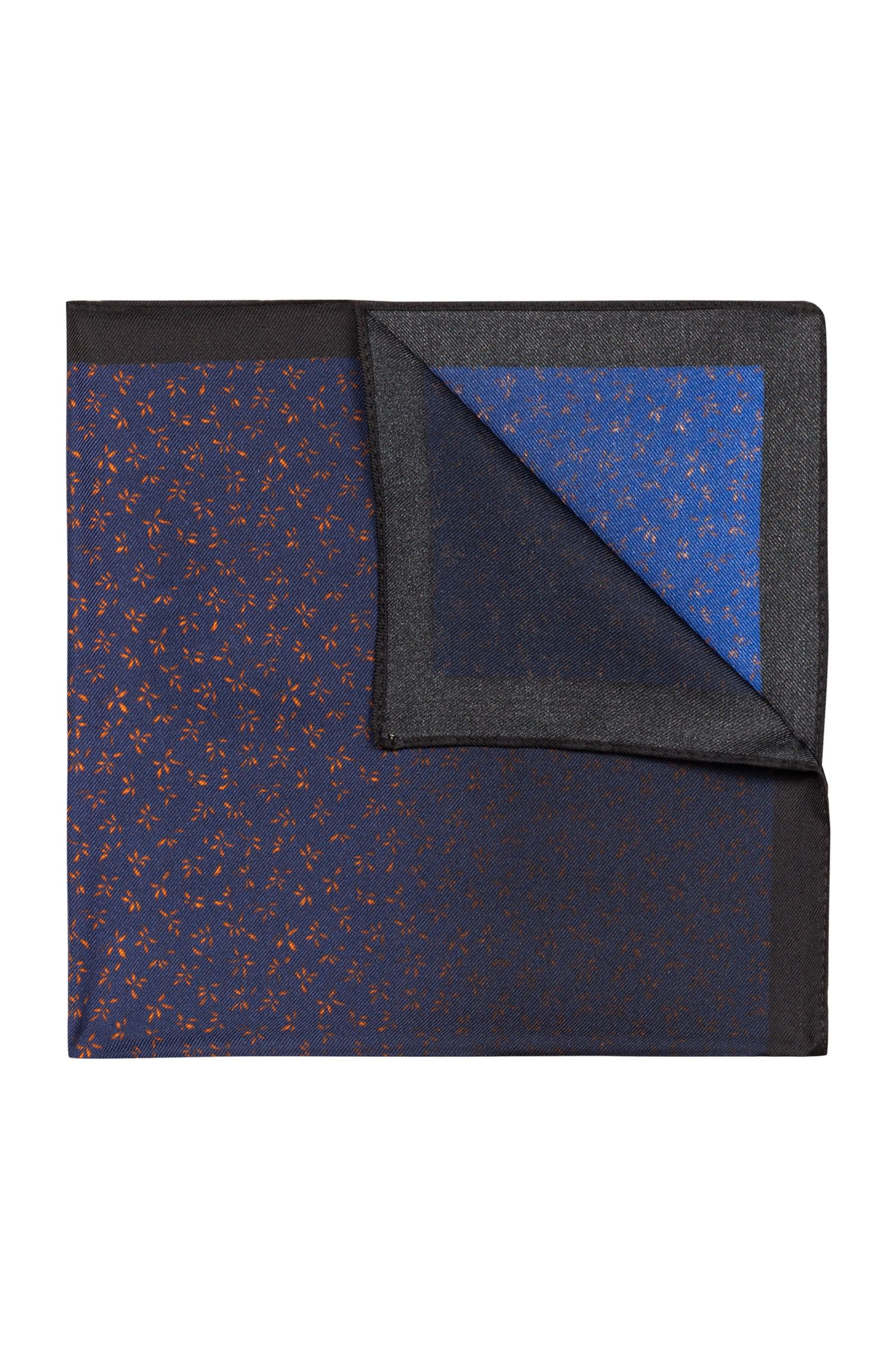 Pochette da taschino in twill di seta stampata, A disegni