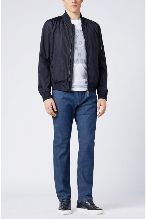 Hugo Boss - Slim-fit jeans in stonewashed stretch denim - 2