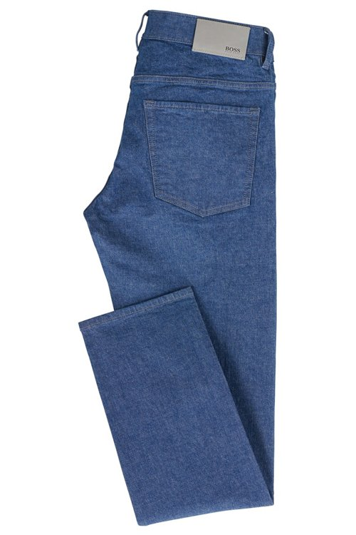 Hugo Boss - Slim-fit jeans in stonewashed stretch denim - 3