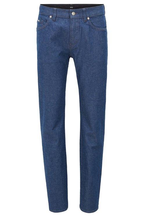 Hugo Boss - Slim-fit jeans in stonewashed stretch denim - 1