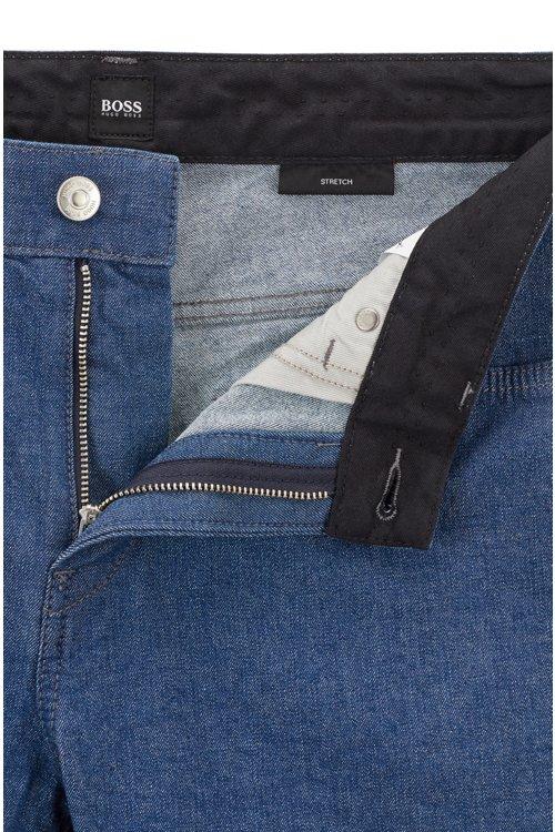 Hugo Boss - Slim-fit jeans in stonewashed stretch denim - 4