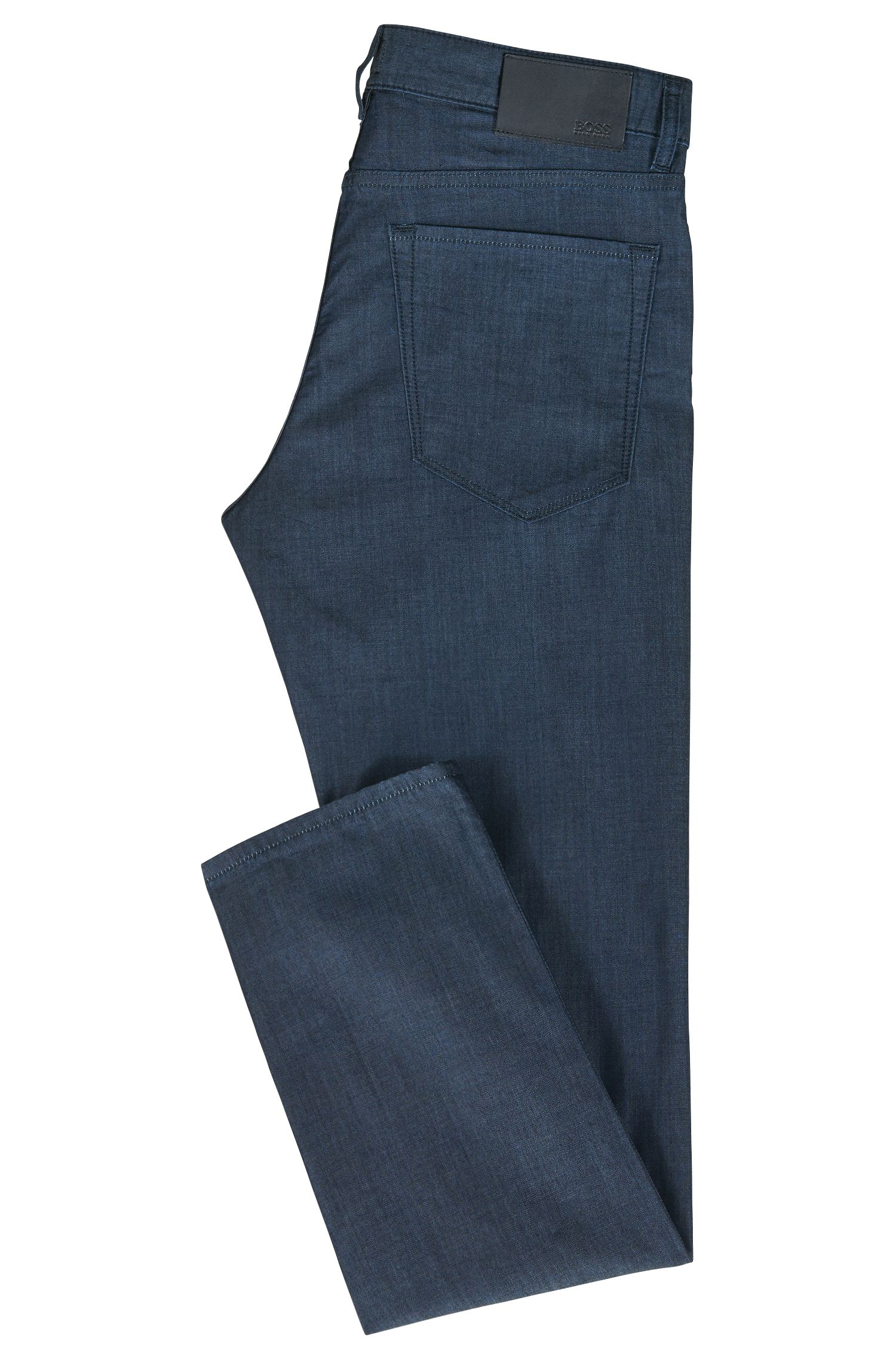 Regular-fit jeans van licht, comfortabel stretchdenim