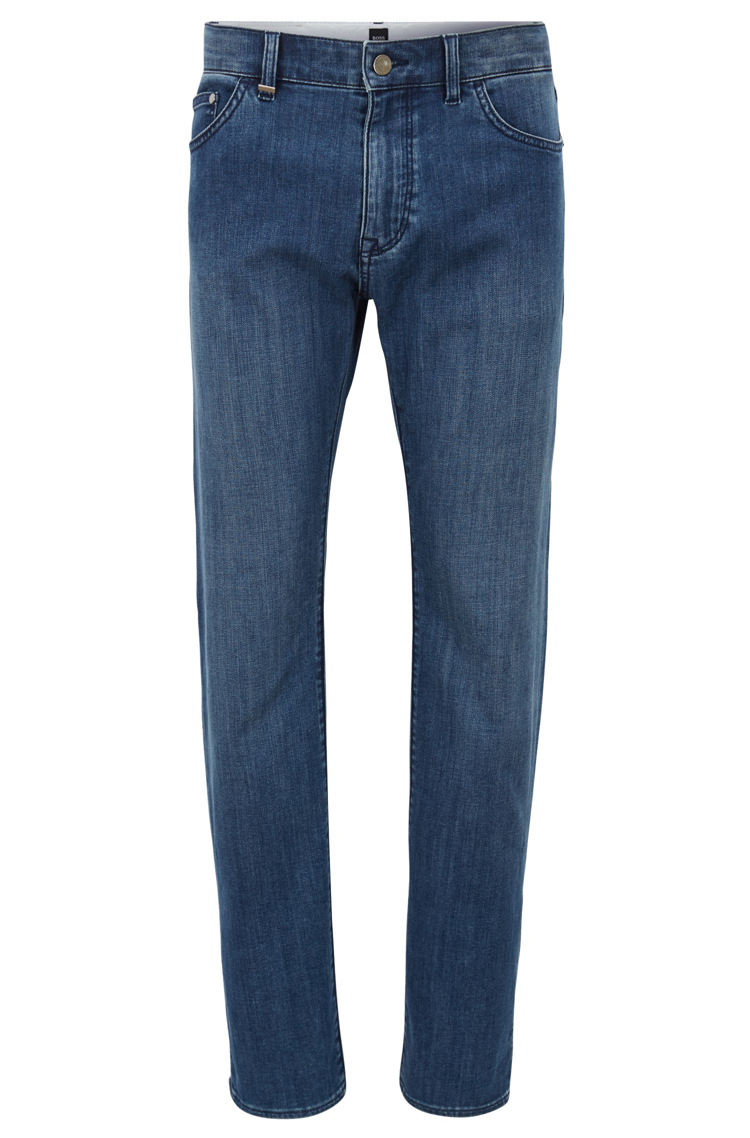 Jean Regular Fit en denim stretch bleu foncé