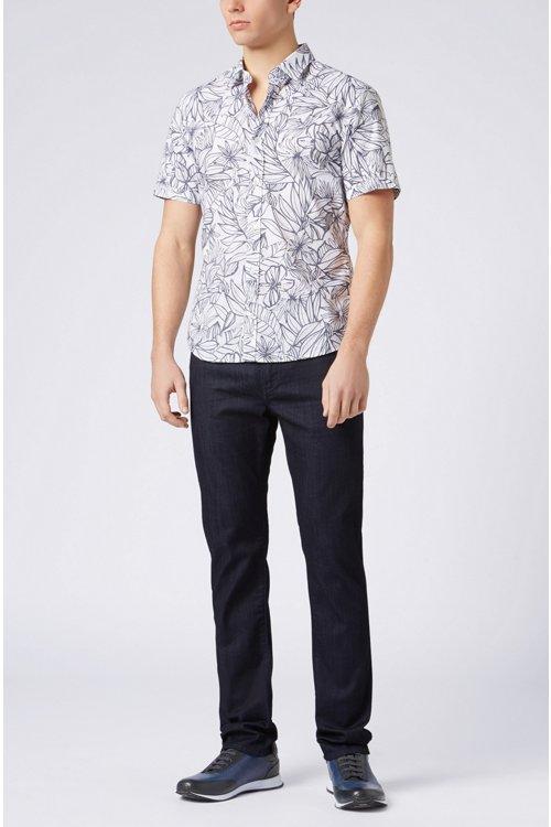 Hugo Boss - Slim-fit jeans in rinse-washed stretch denim - 2