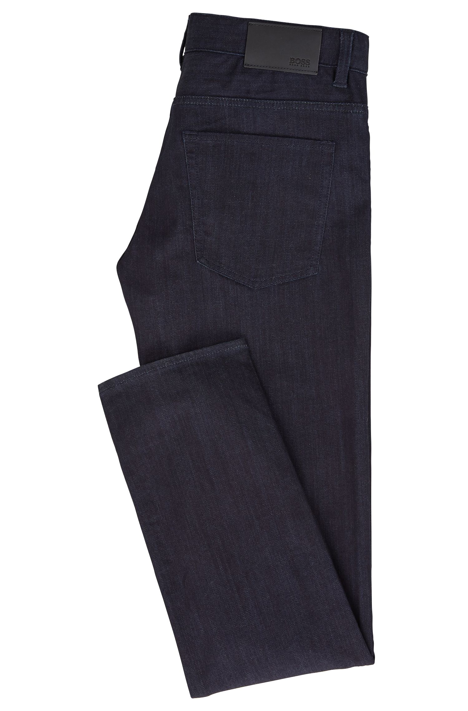Slim-fit jeans van rinse-washed stretchdenim