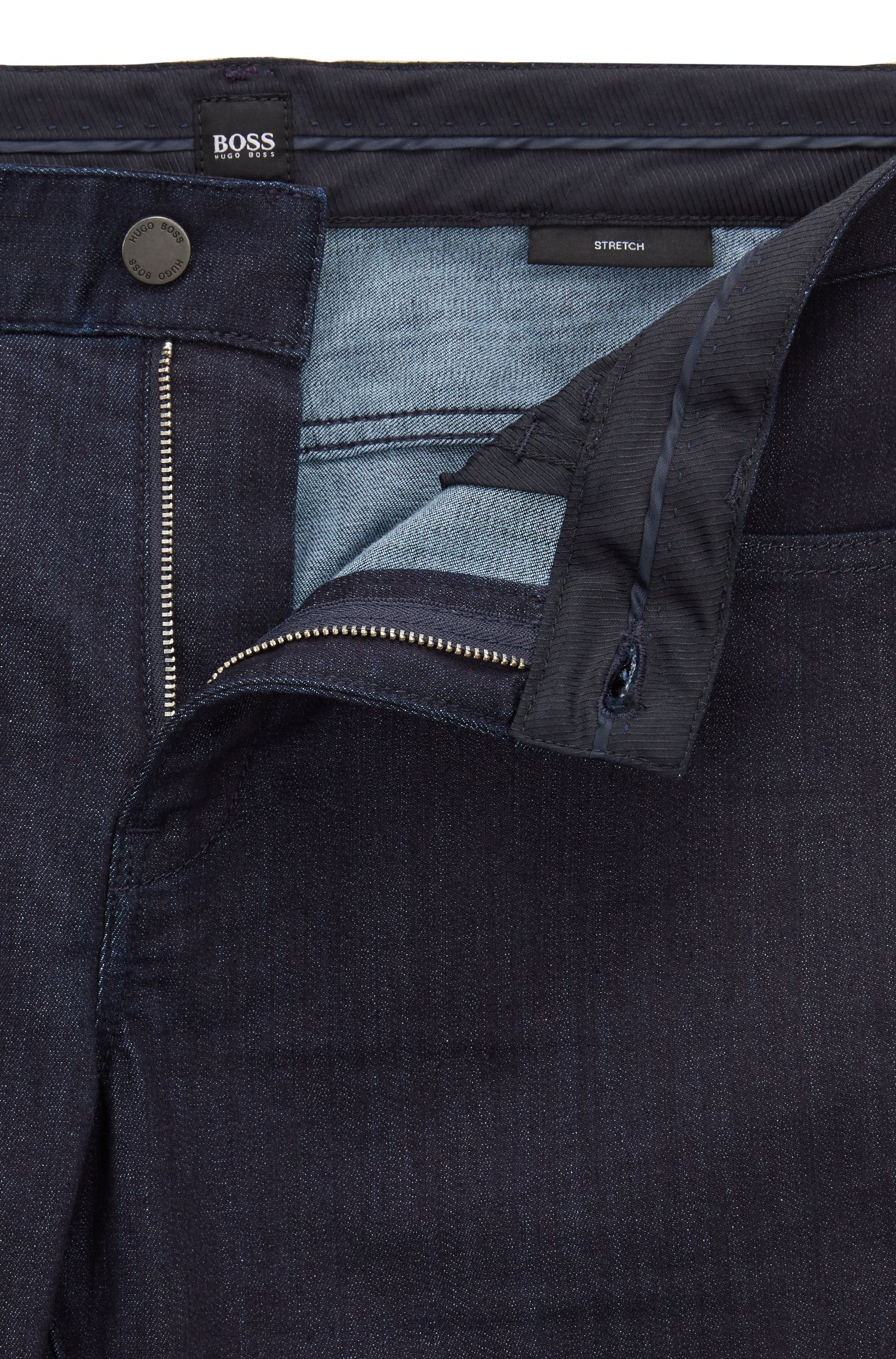 Hugo Boss - Jean Slim Fit en denim stretch délavé - 4
