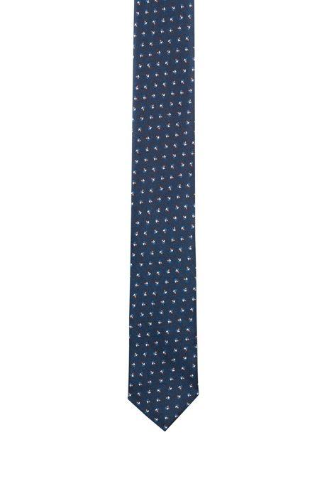 Cravate Imprimée En Twill De Soie Hugo Boss jGPnKaI