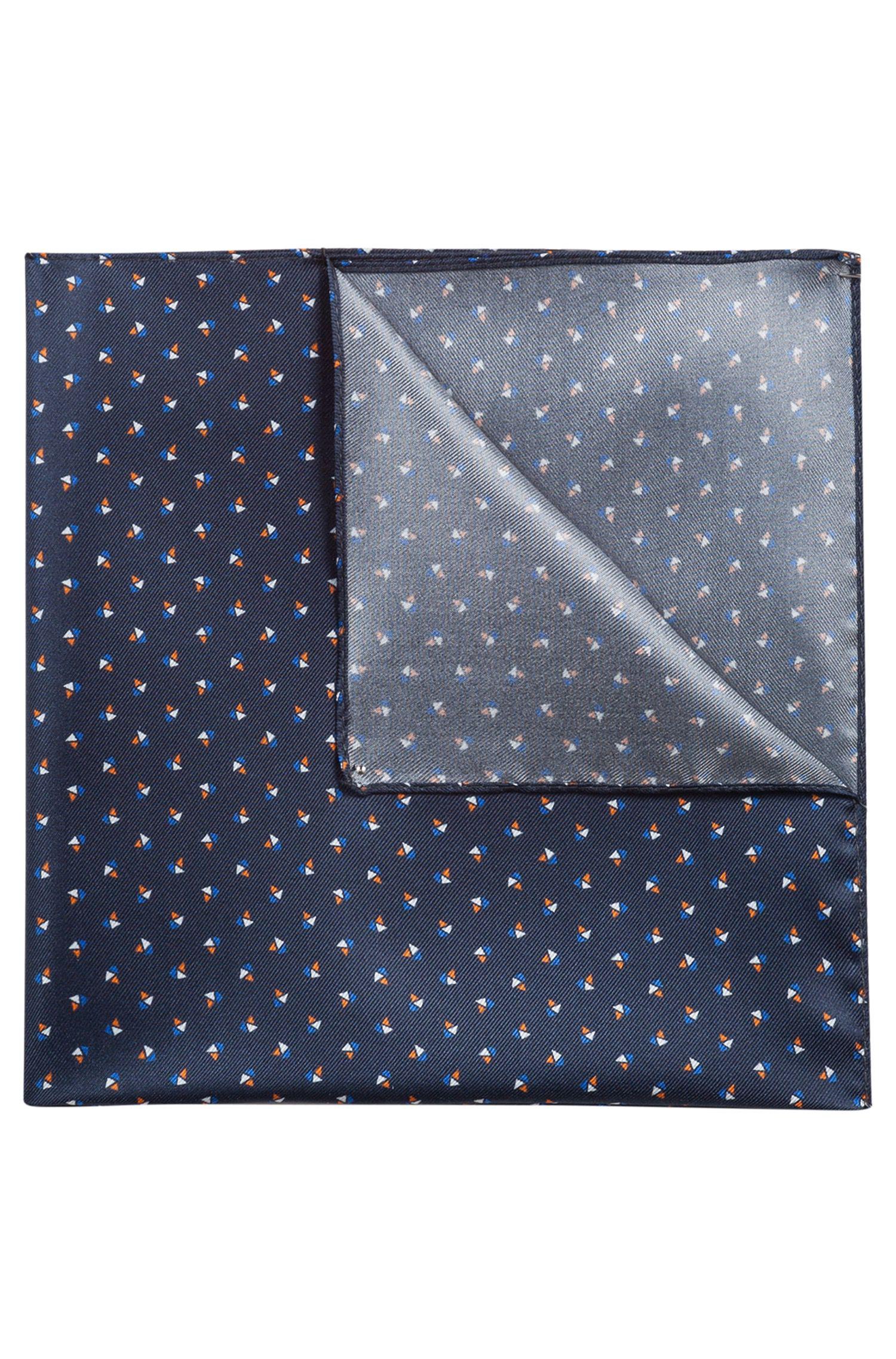 Pañuelo de bolsillo en sarga de seda estampada