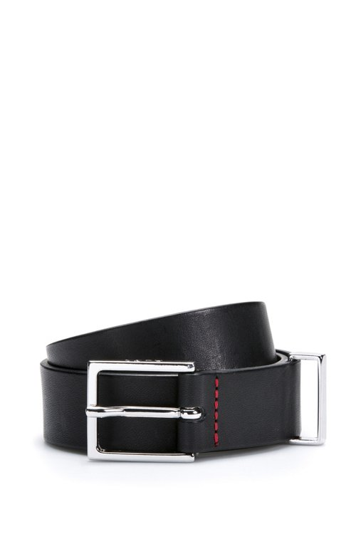 Hugo Boss - Smooth-leather belt with polished metal hardware - 1