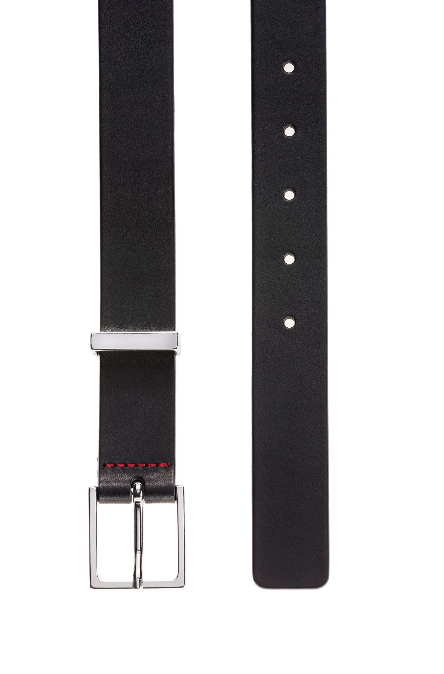 Hugo Boss - Smooth-leather belt with polished metal hardware - 3