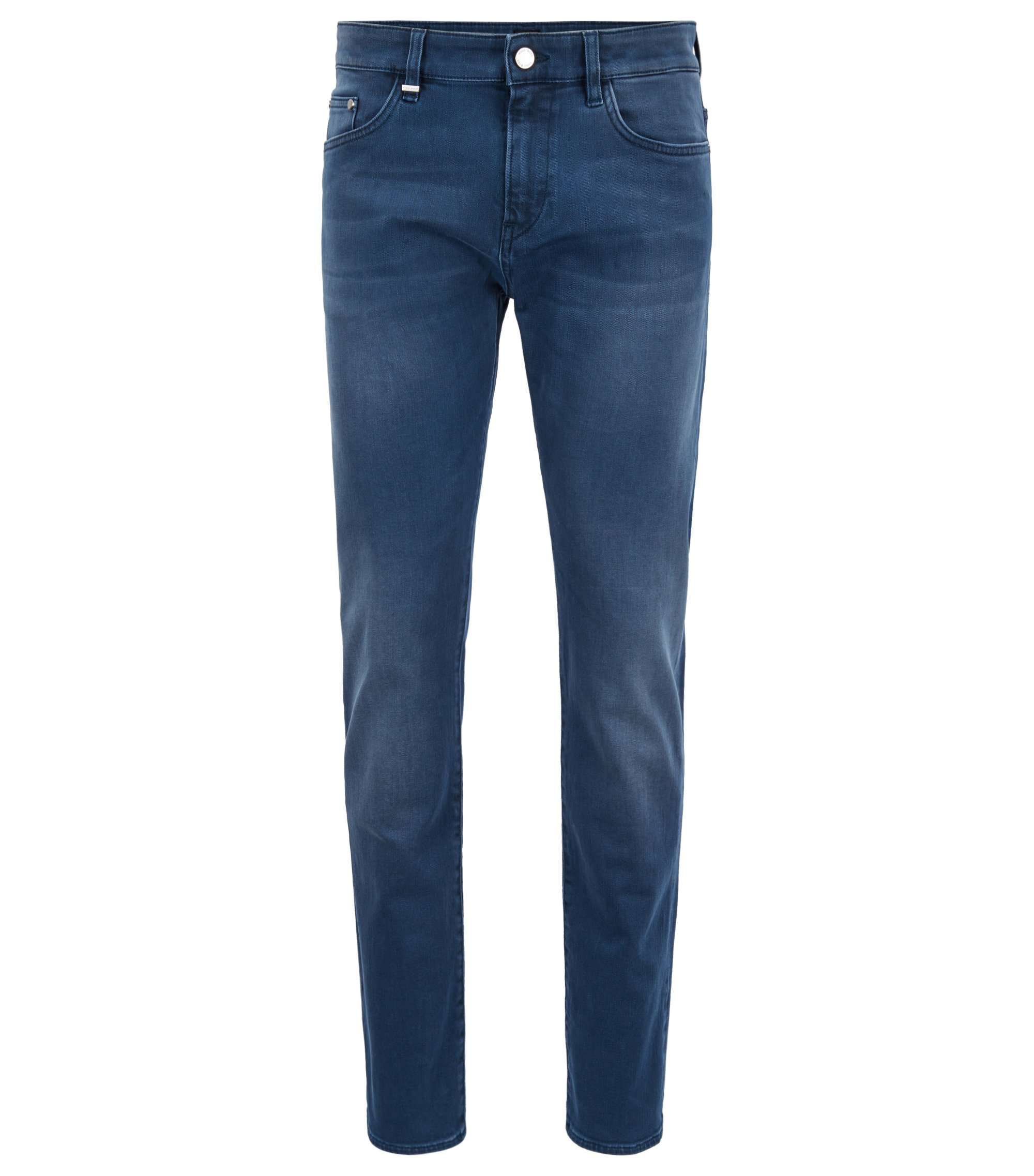Slim-fit jeans in sulphur-dyed stretch denim, Blue