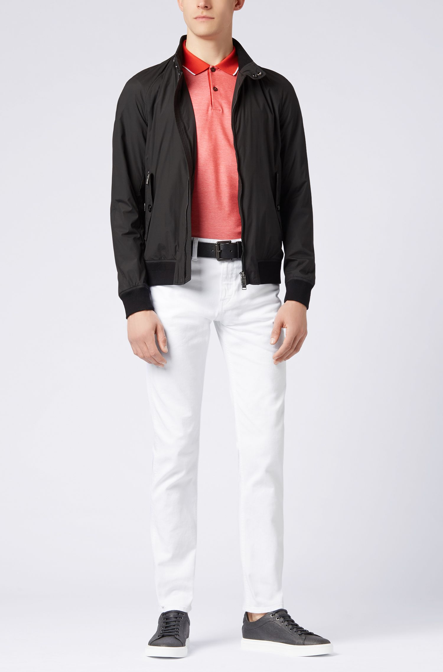 Jean Slim Fit en denim stretch teint, Blanc
