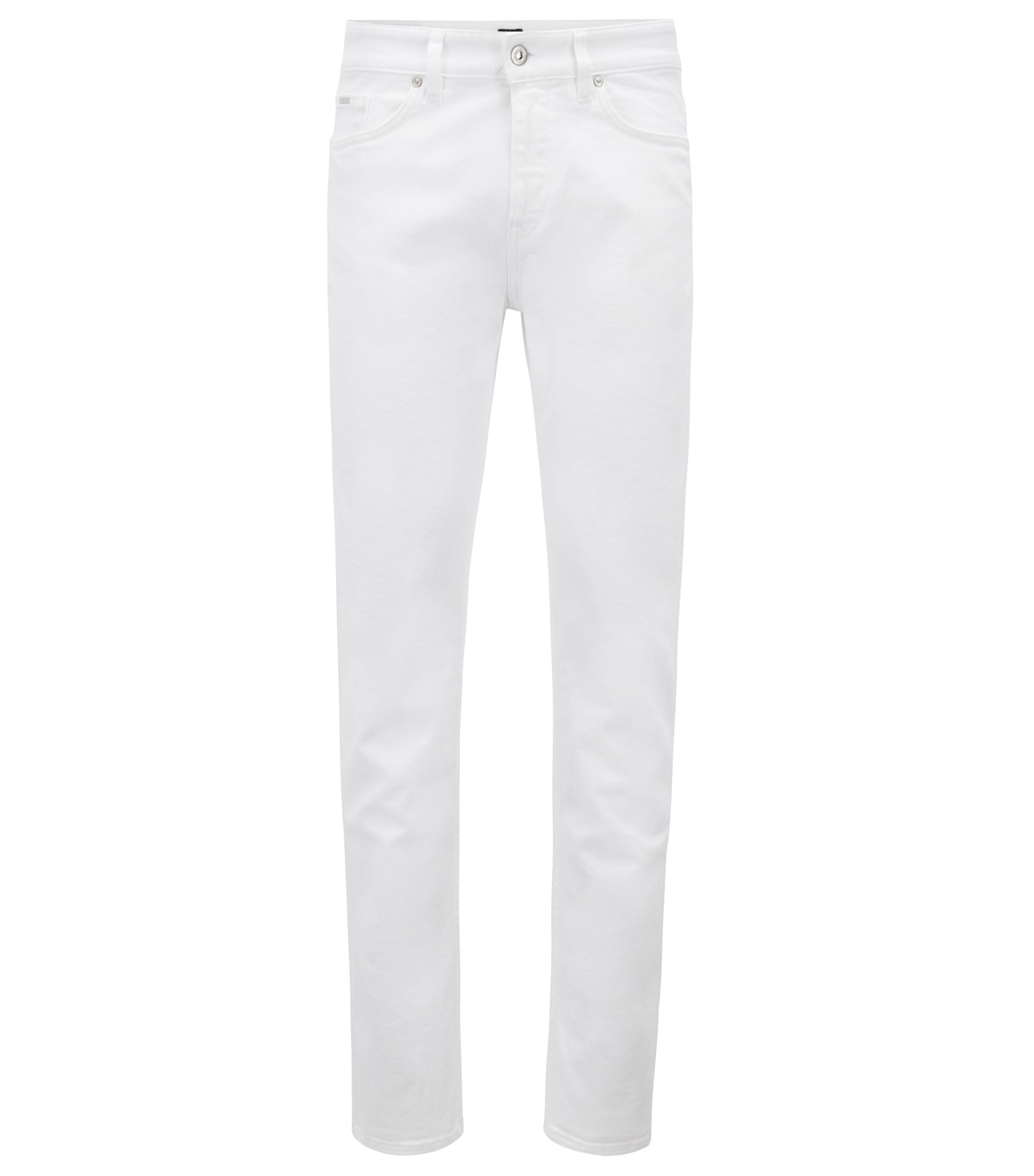 Slim-fit jeans in coloured stretch denim, White