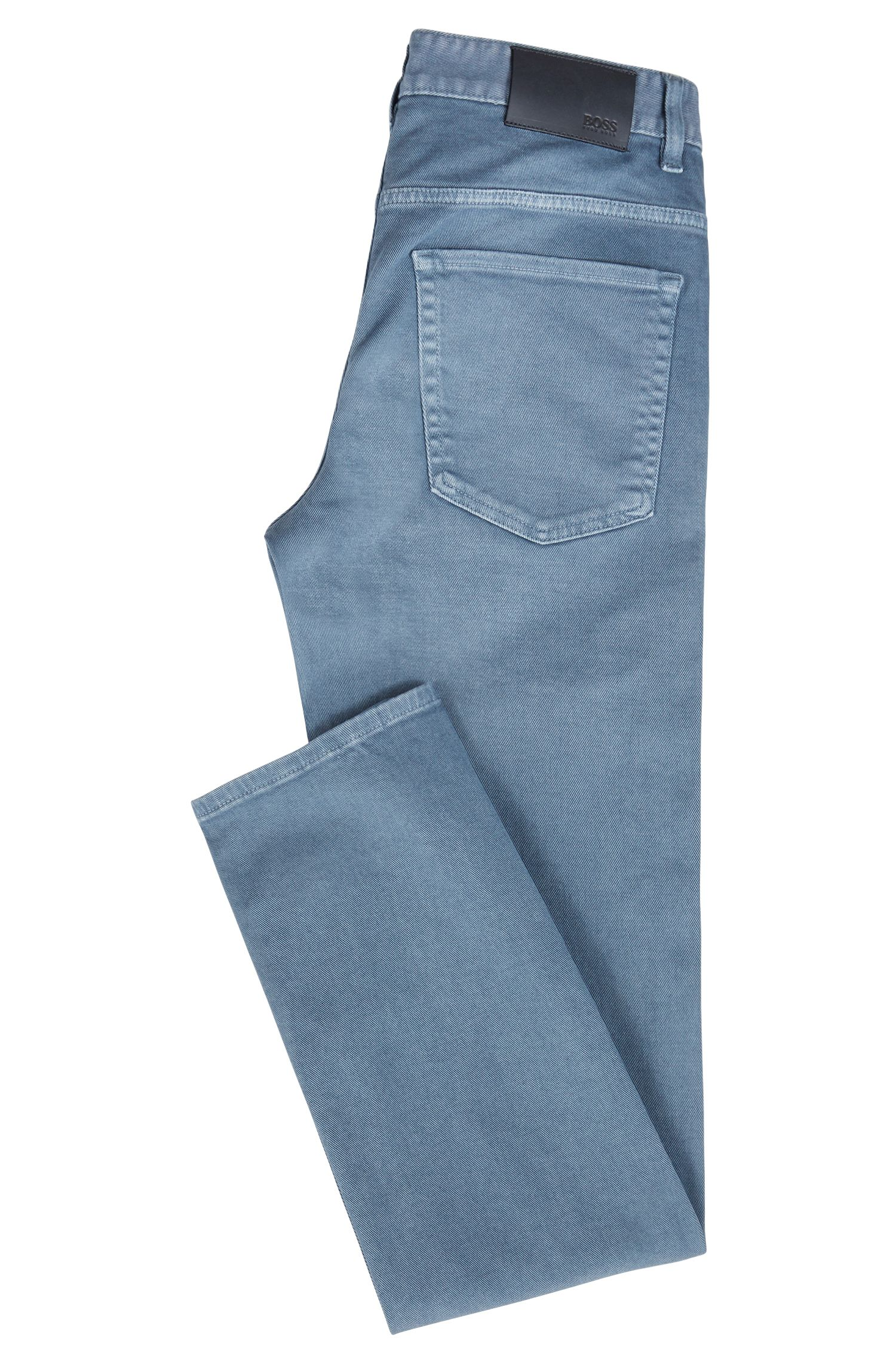 Slim-fit jeans in coloured stretch denim, Blue