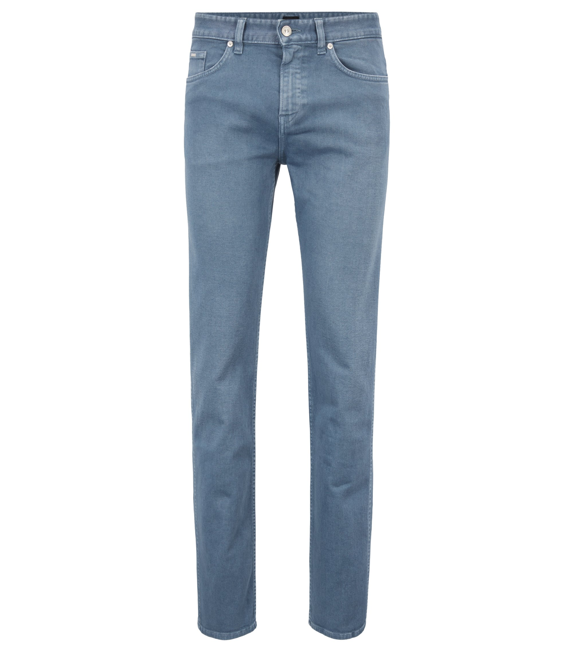 Slim-Fit Jeans aus gefärbtem Stretch-Denim, Blau