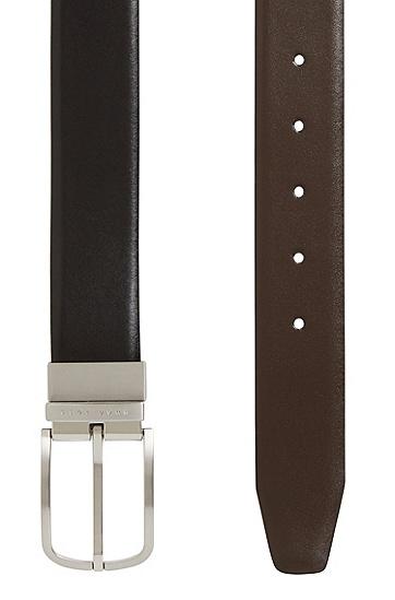 男款皮革双面腰带,  002_黑色