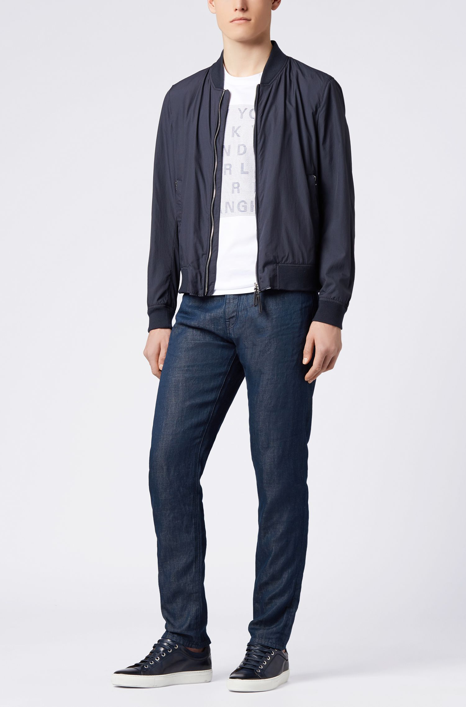 Hugo Boss - Relaxed-fit cropped jeans in cotton-blend selvedge denim - 2