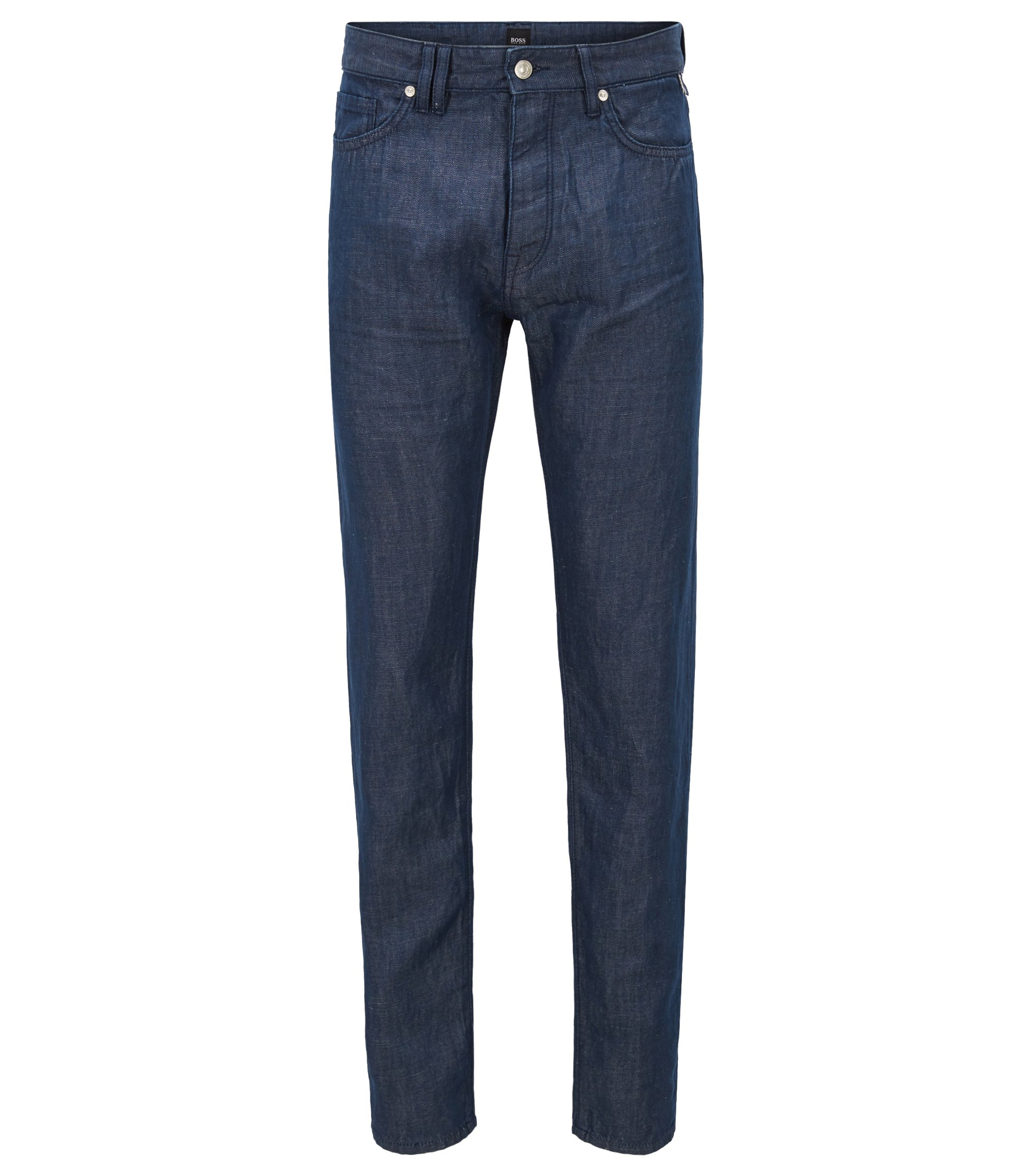 Relaxed-Fit Jeans aus Selvedge-Denim in Cropped-Länge, Dunkelblau