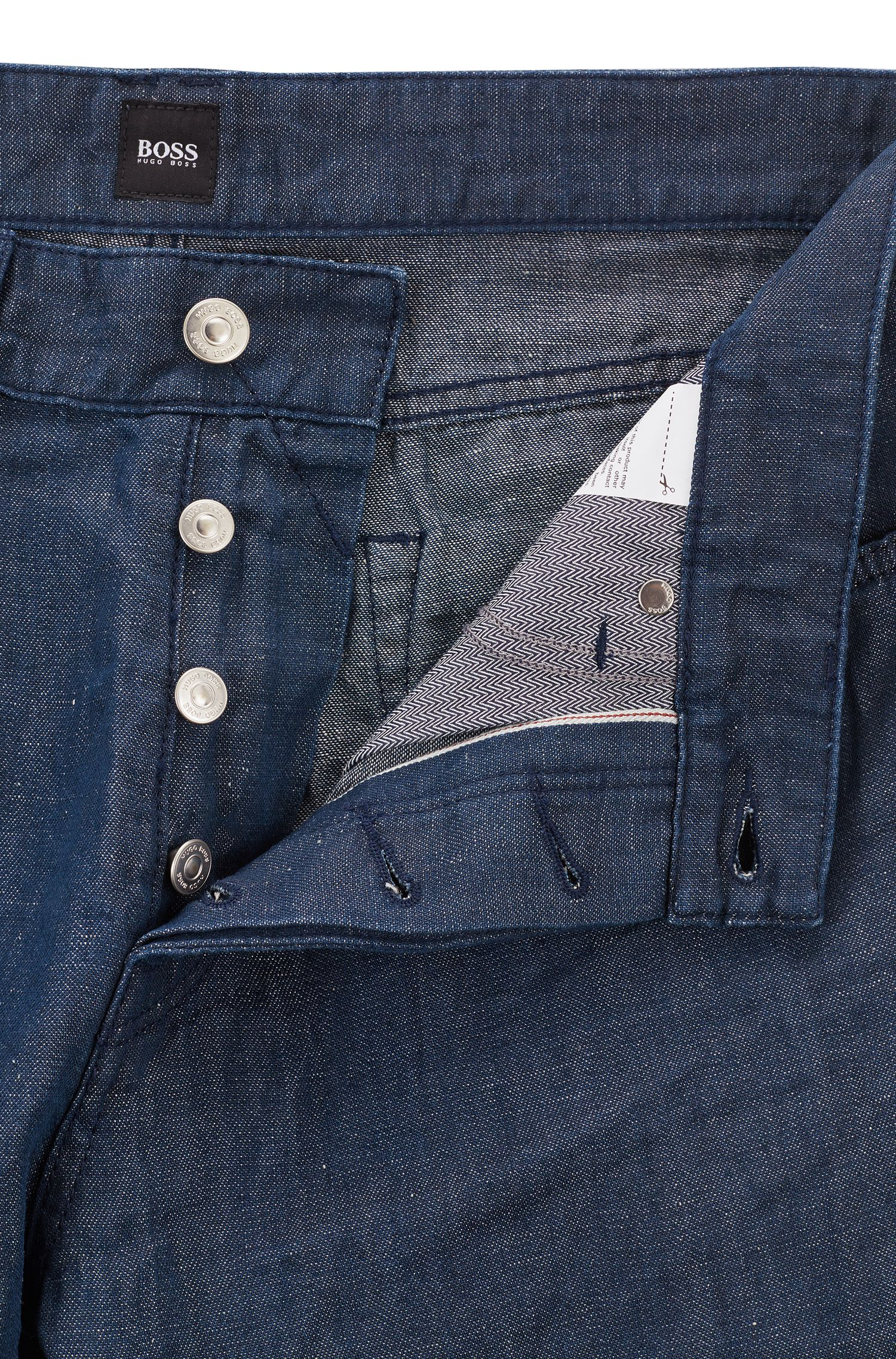 Relaxed-Fit Jeans aus Selvedge-Denim in Cropped-Länge