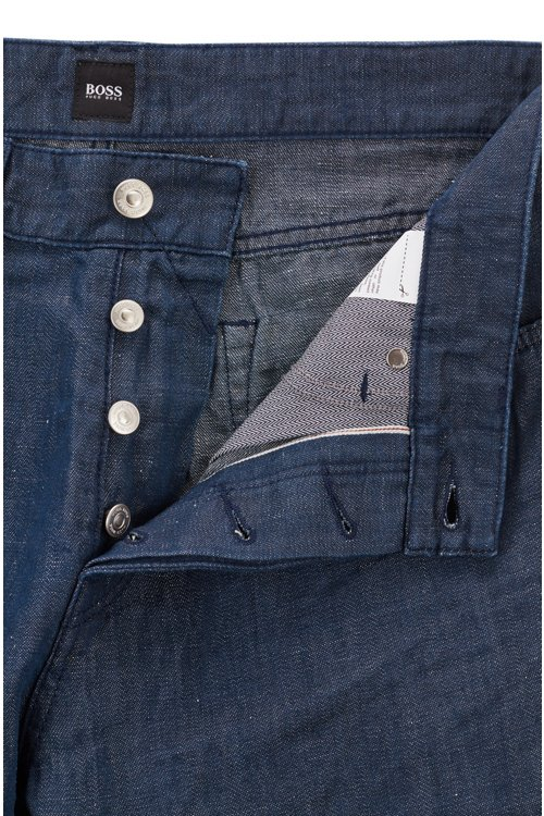 Hugo Boss - Relaxed-fit cropped jeans in cotton-blend selvedge denim - 4