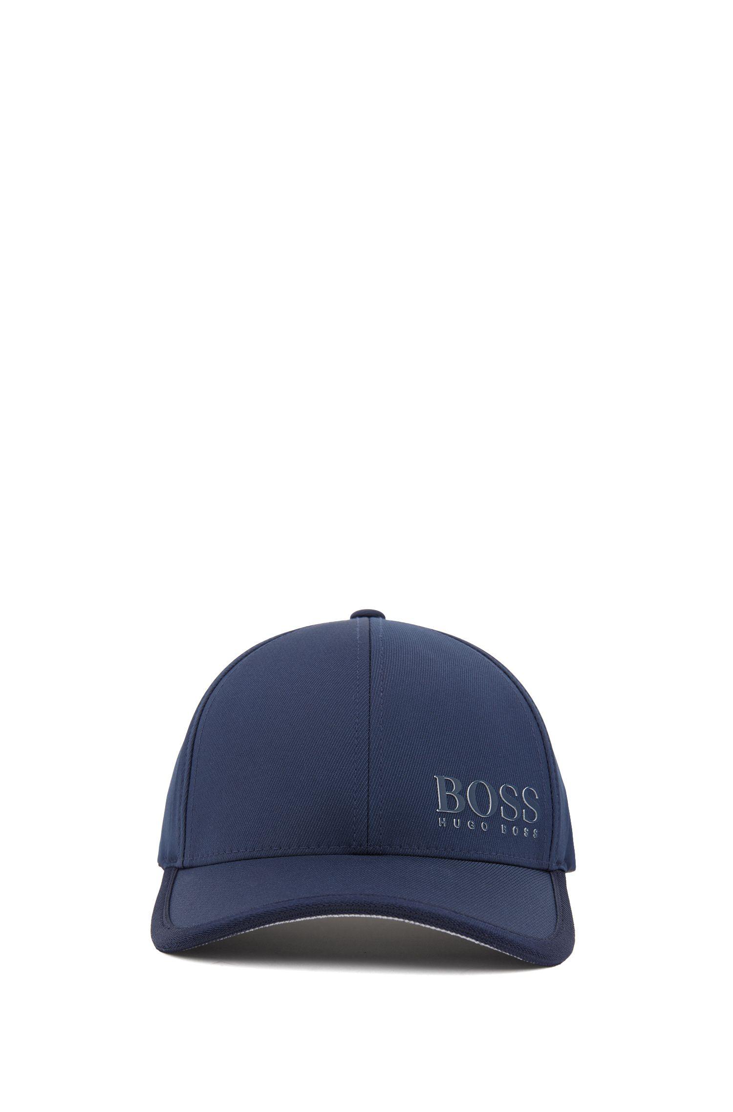 Cap in technical stretch twill with 3D logo , Dark Blue