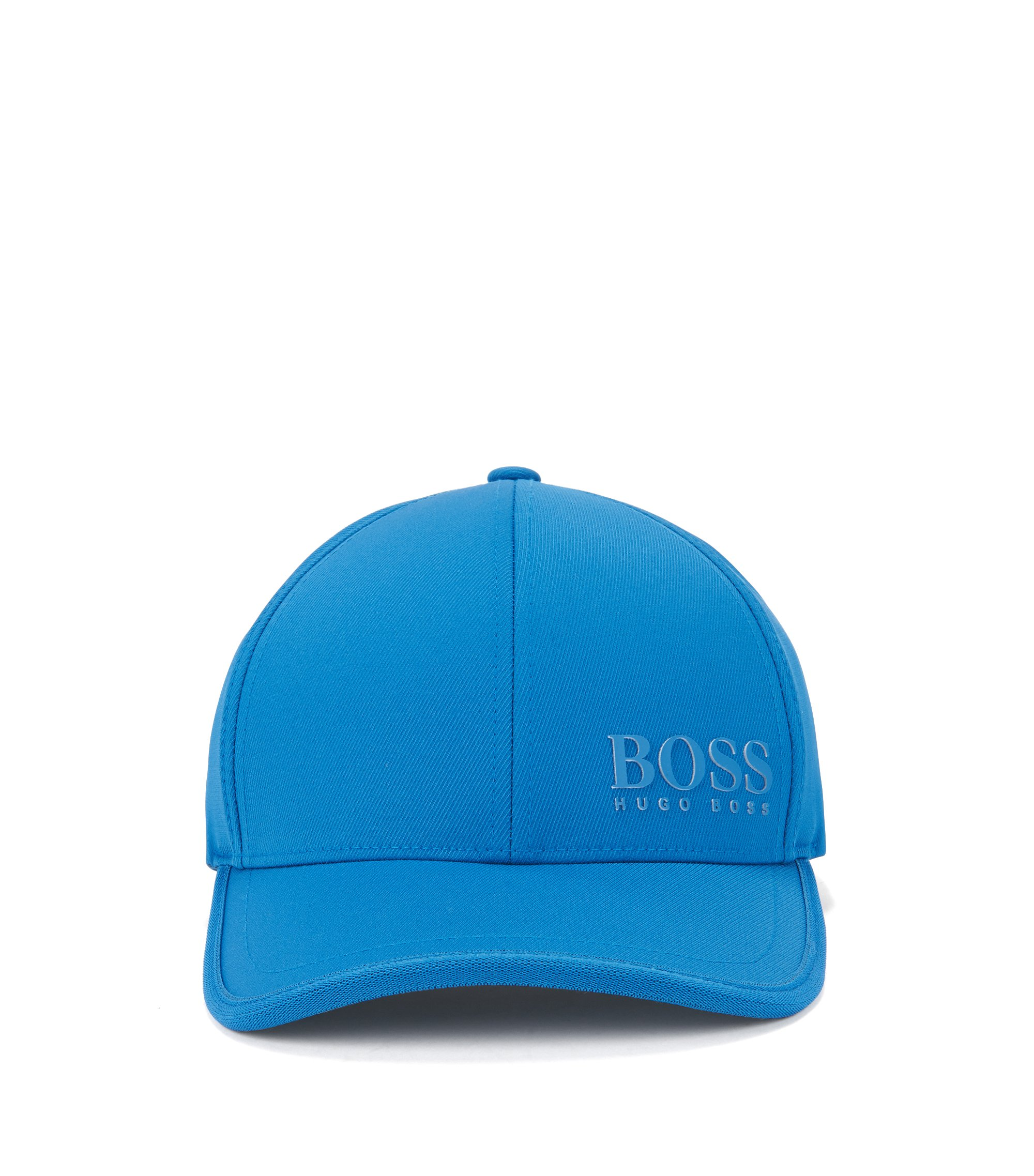 Cap in technical stretch twill with 3D logo , Blue