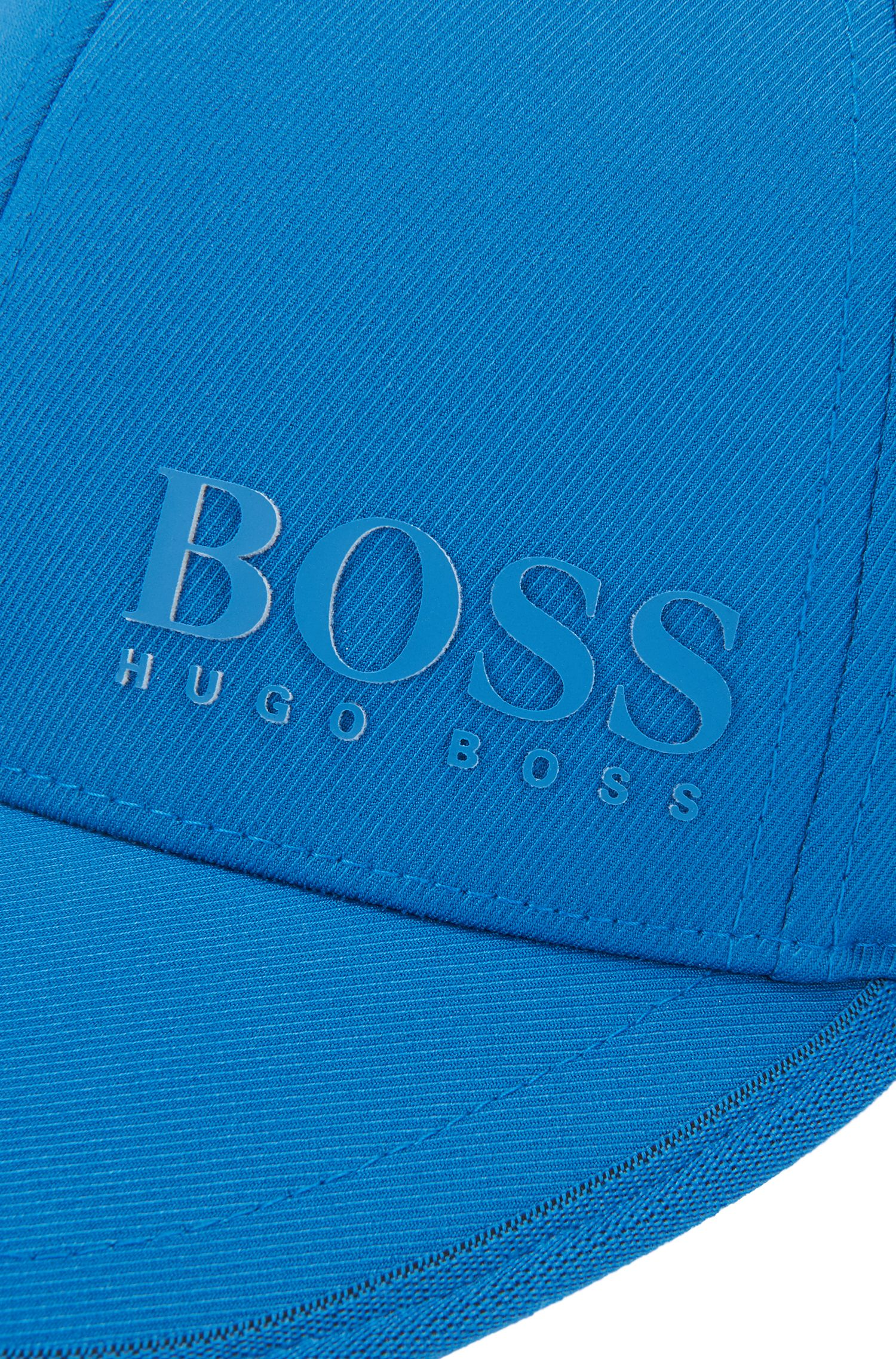 Casquette en twill technique stretch à logo 3D , Bleu