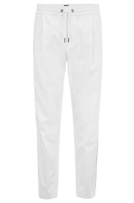 Tapered-fit trousers in a stretch-cotton blend BOSS Clearance Very Cheap Comfortable Cheap Online Exclusive Cheap Price ZvXub7k