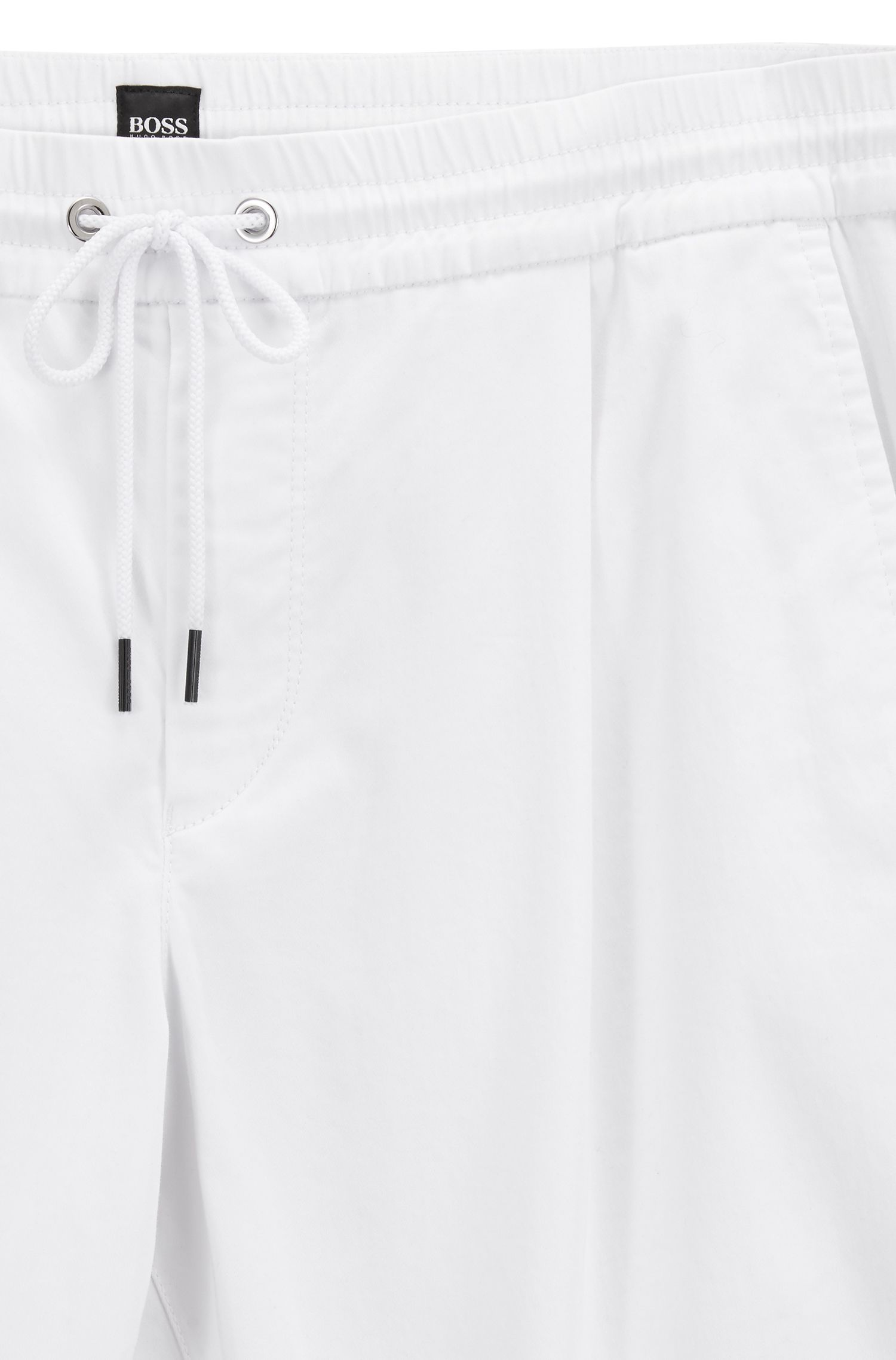 Tapered-fit trousers in a stretch-cotton blend