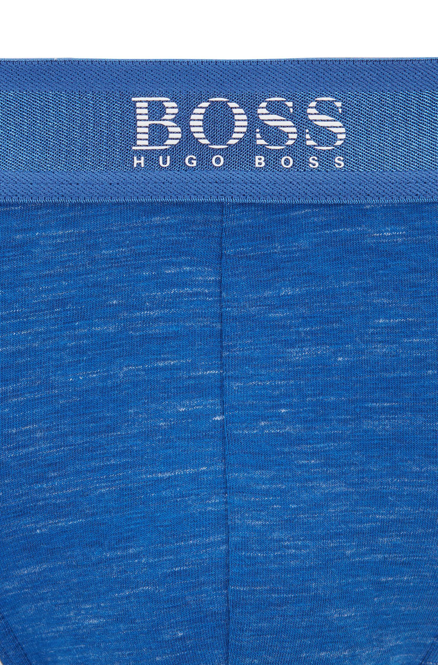 Slip met logotailleband van stretch, gemêleerde slubjersey, Blauw