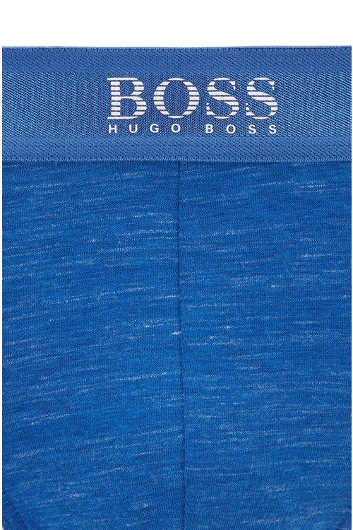 Hugo Boss - Logo-waistband briefs in stretch mélange slub jersey - 2