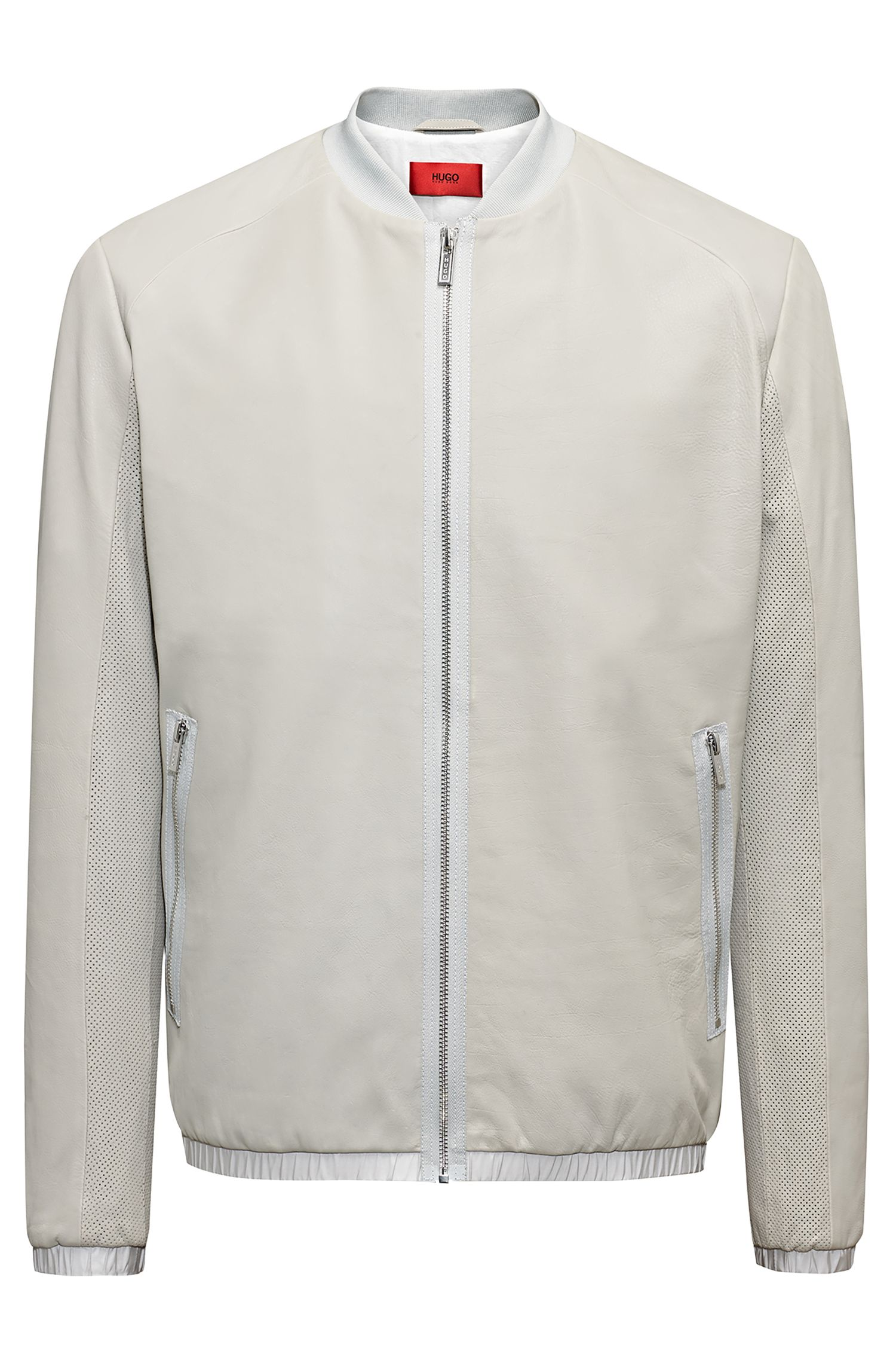 Bomber Regular Fit en cuir de veau
