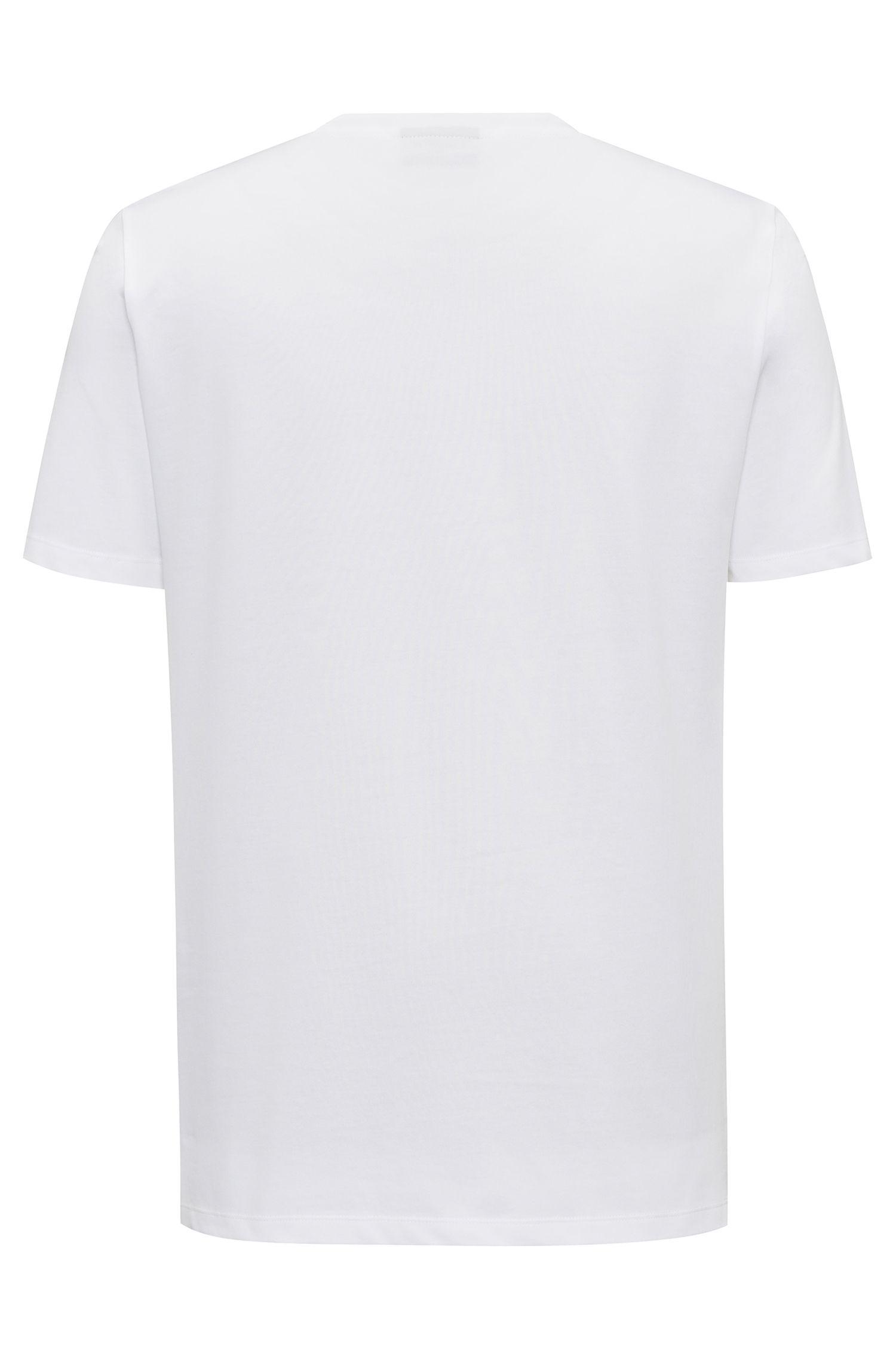 Regular-Fit T-Shirt aus Single-Jersey mit Rundhalsausschnitt und Slogan