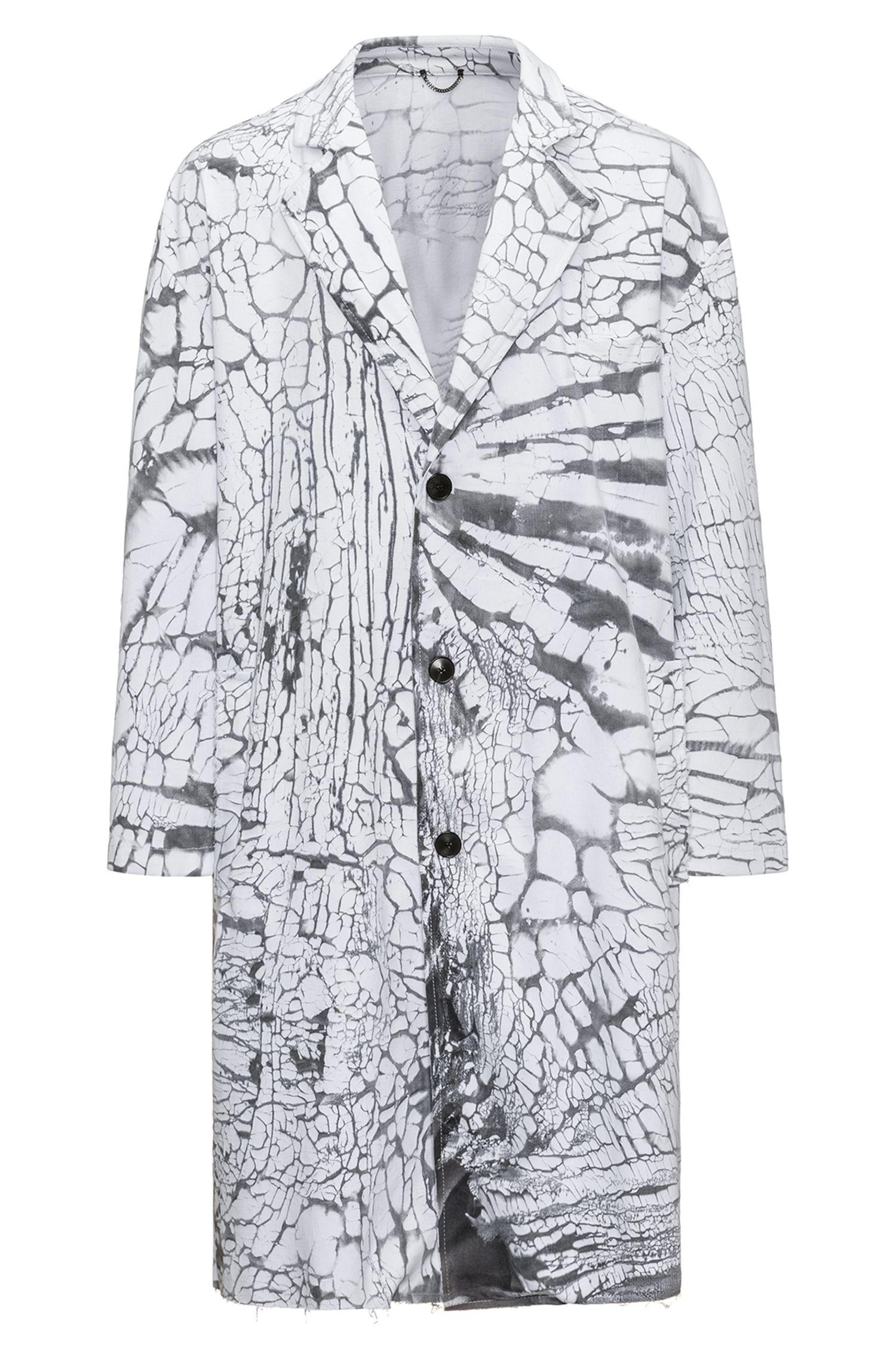 Mantel aus Stretch-Baumwolle mit Krakelier-Effekt