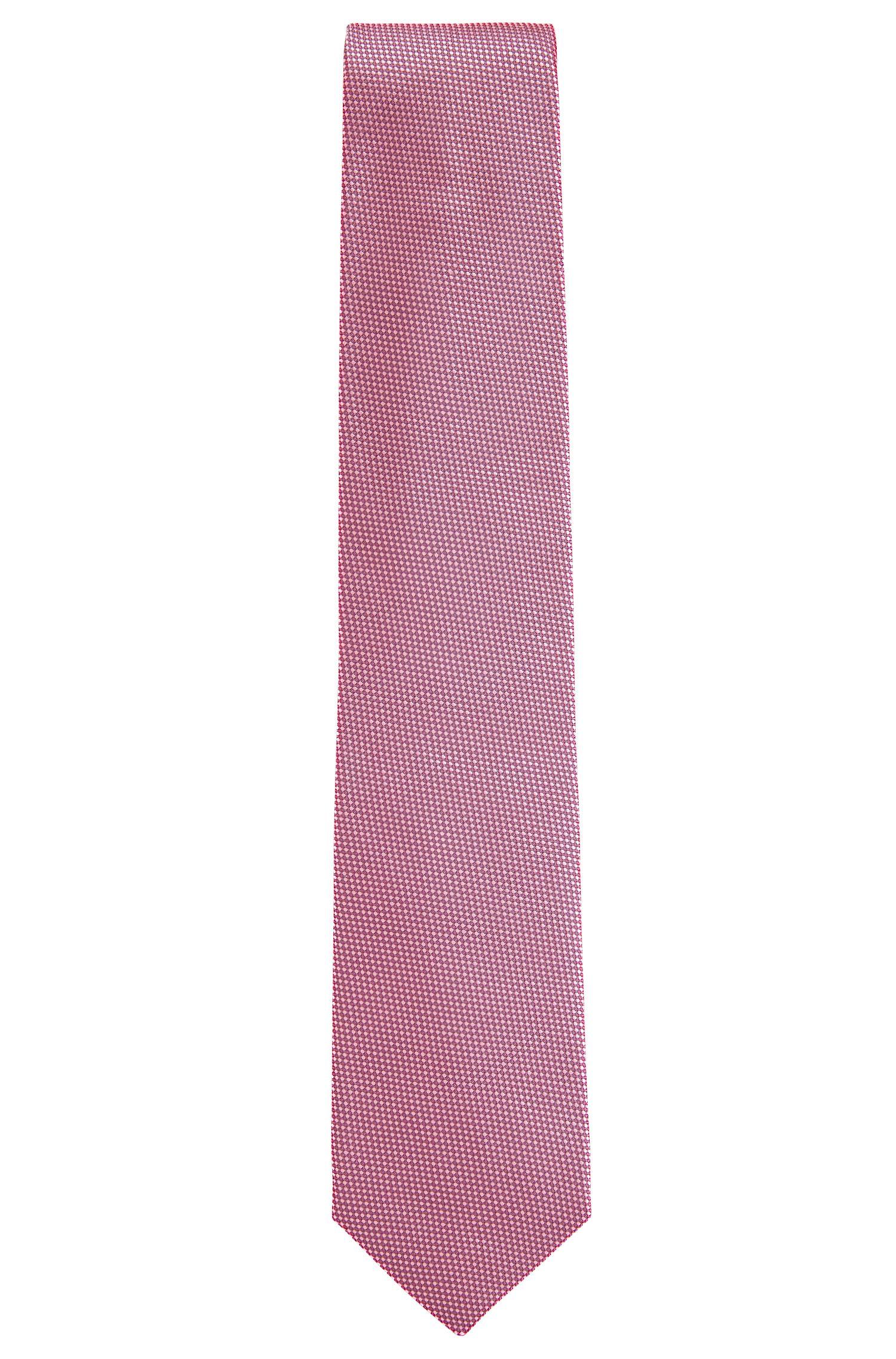 Corbata de fantasía confeccionada en Italia en jacquard de seda