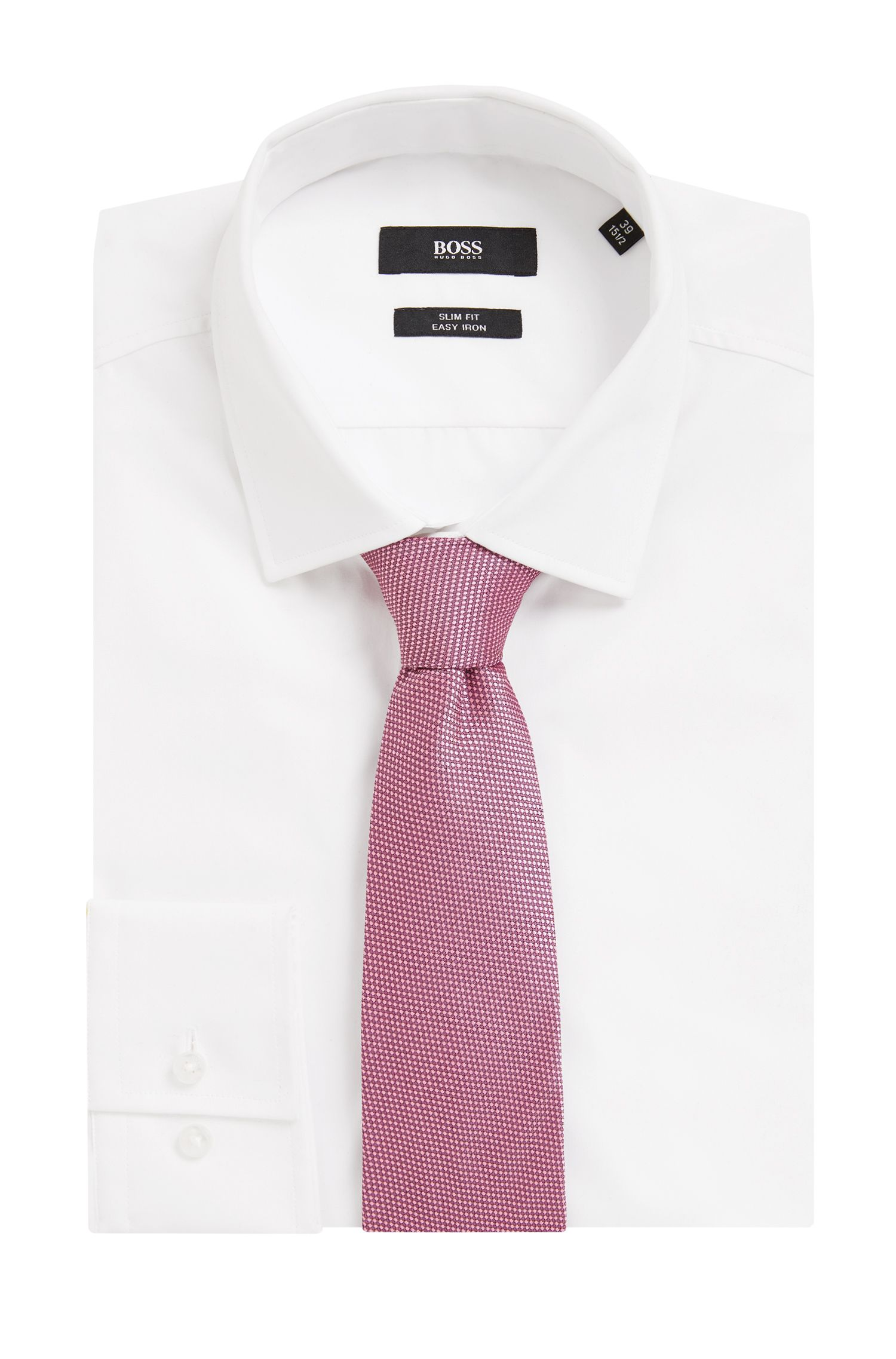 Italian-made patterned tie in silk jacquard
