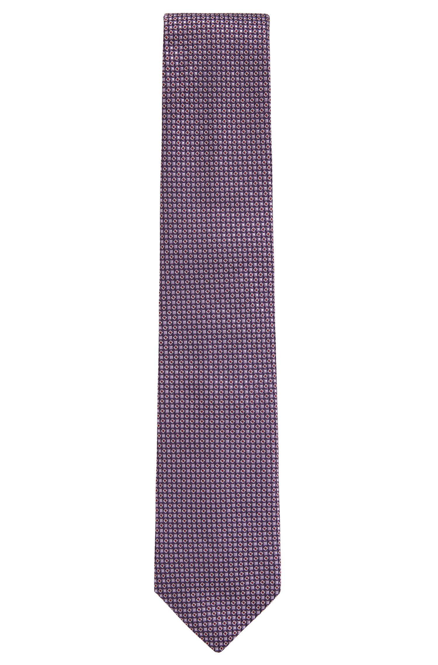 Italian-made patterned tie in silk jacquard